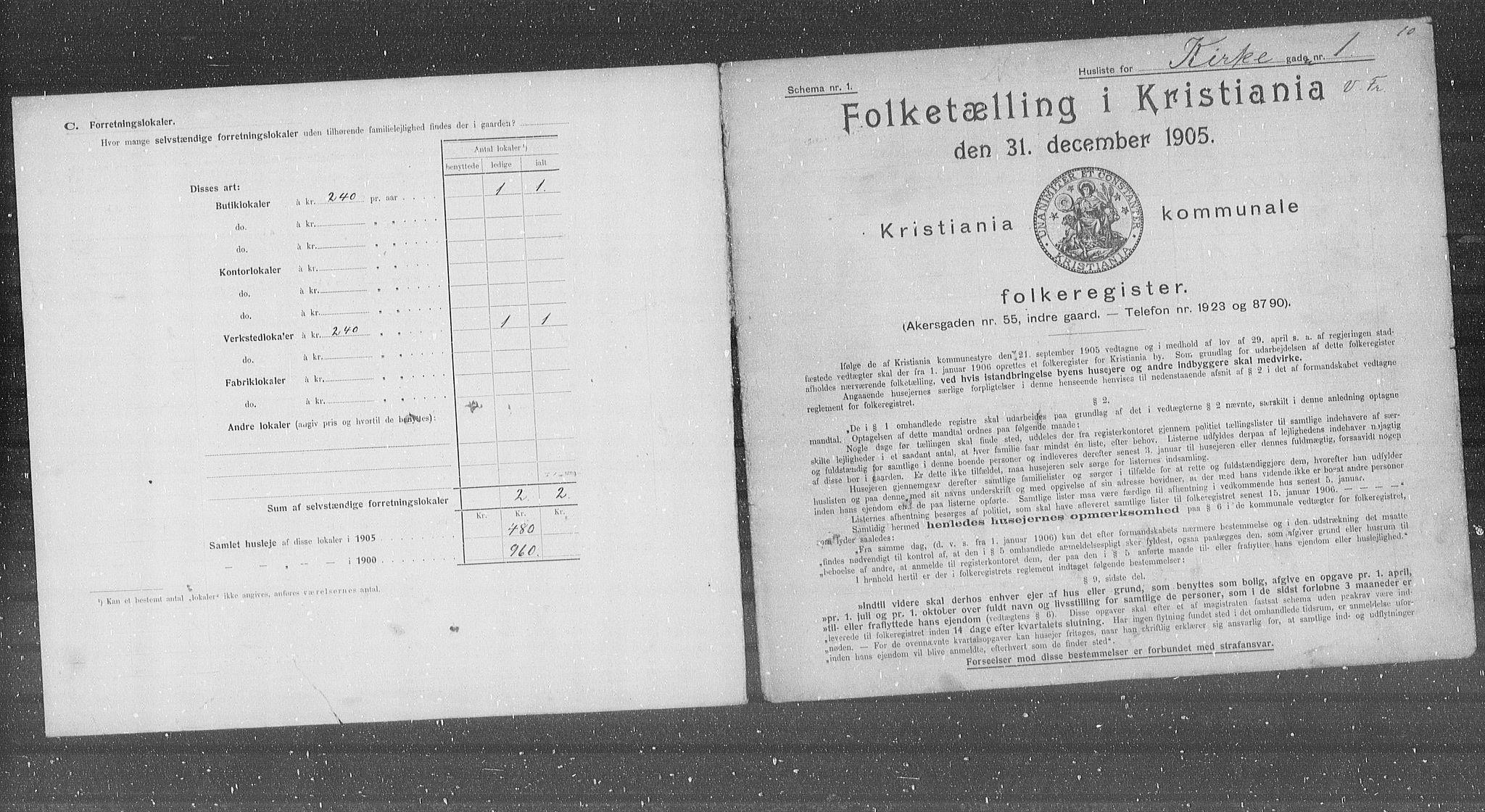 OBA, Municipal Census 1905 for Kristiania, 1905, p. 26014