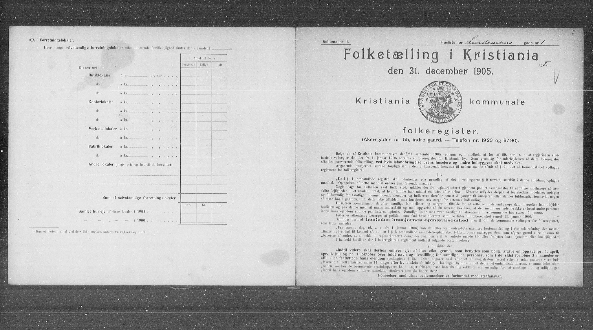 OBA, Municipal Census 1905 for Kristiania, 1905, p. 30272