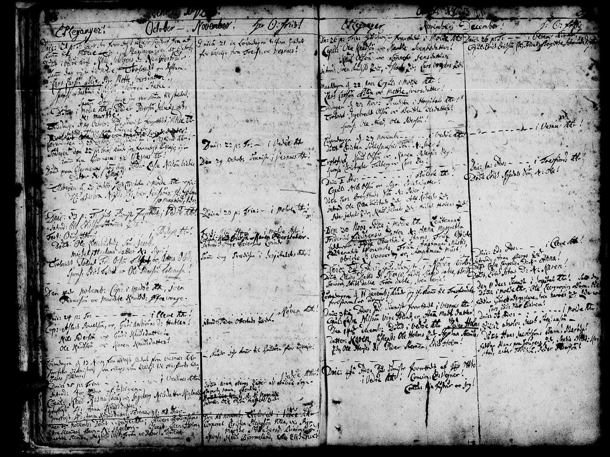SAT, Ministerialprotokoller, klokkerbøker og fødselsregistre - Møre og Romsdal, 547/L0599: Parish register (official) no. 547A01, 1721-1764, p. 40-41