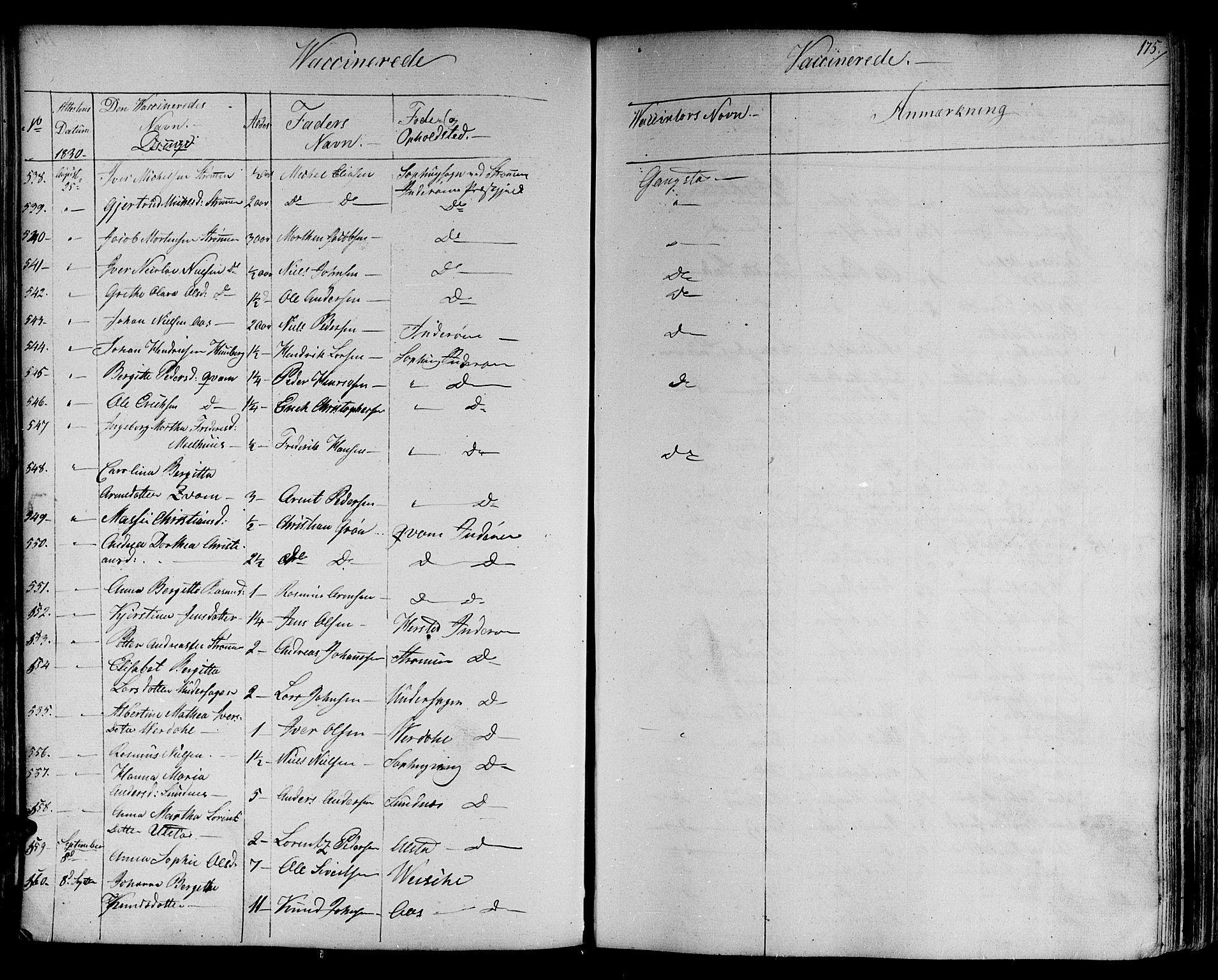 SAT, Ministerialprotokoller, klokkerbøker og fødselsregistre - Nord-Trøndelag, 730/L0277: Parish register (official) no. 730A06 /1, 1830-1839, p. 175