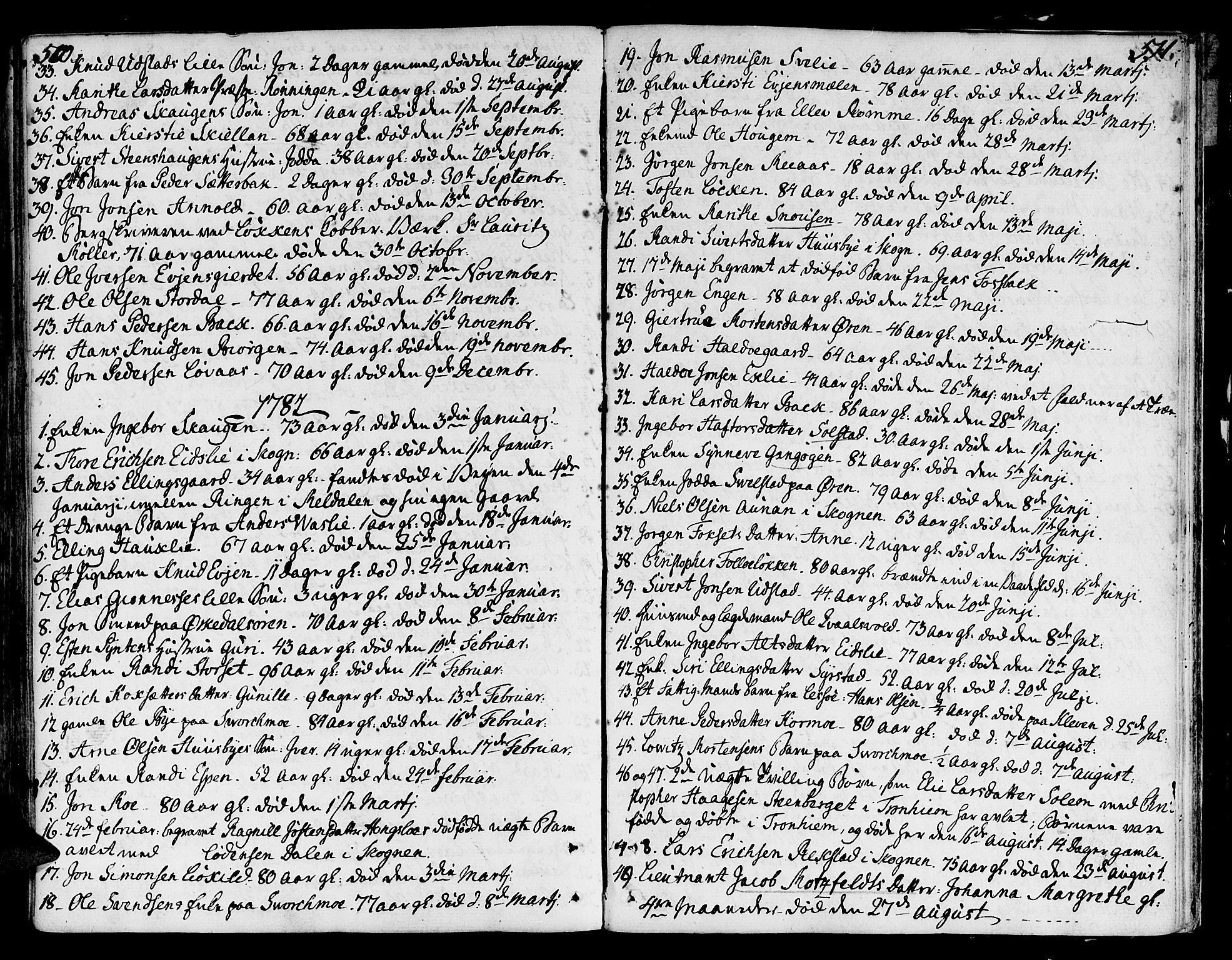 SAT, Ministerialprotokoller, klokkerbøker og fødselsregistre - Sør-Trøndelag, 668/L0802: Parish register (official) no. 668A02, 1776-1799, p. 510-511