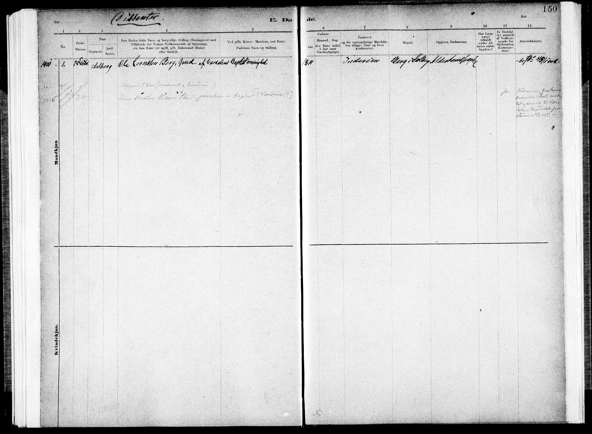 SAT, Ministerialprotokoller, klokkerbøker og fødselsregistre - Nord-Trøndelag, 731/L0309: Parish register (official) no. 731A01, 1879-1918, p. 150