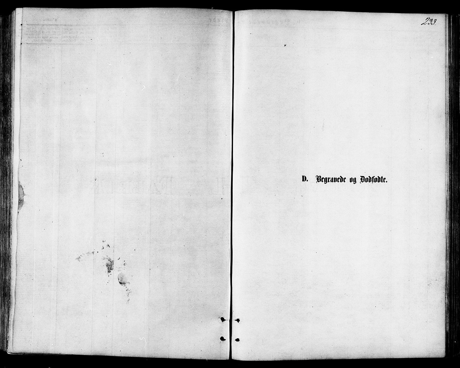 SAT, Ministerialprotokoller, klokkerbøker og fødselsregistre - Nordland, 846/L0645: Parish register (official) no. 846A03, 1872-1886, p. 233