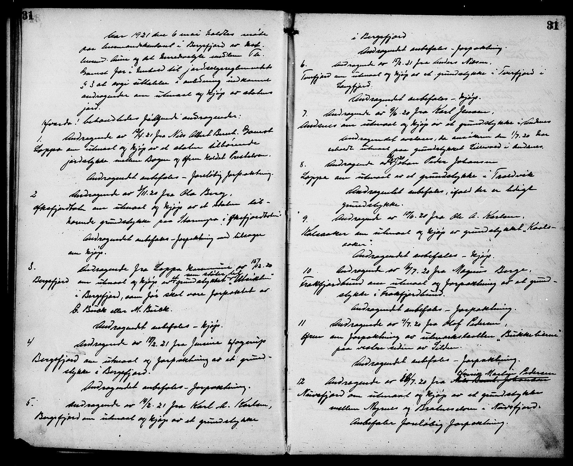 FIEI, Lensmannen i Loppa (hos Finnmarkseiendommen)*, 1916-1942, p. 31