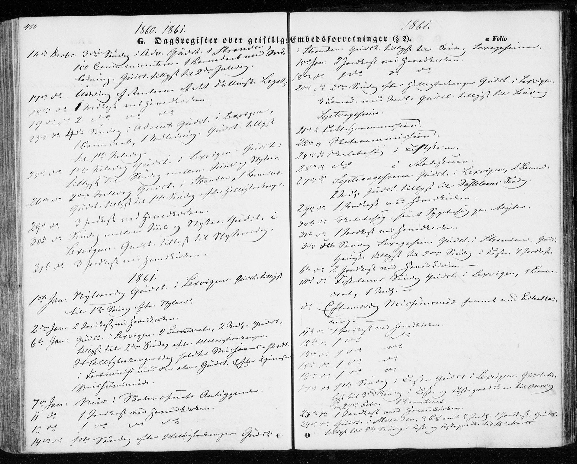 SAT, Ministerialprotokoller, klokkerbøker og fødselsregistre - Nord-Trøndelag, 701/L0008: Parish register (official) no. 701A08 /1, 1854-1863, p. 450