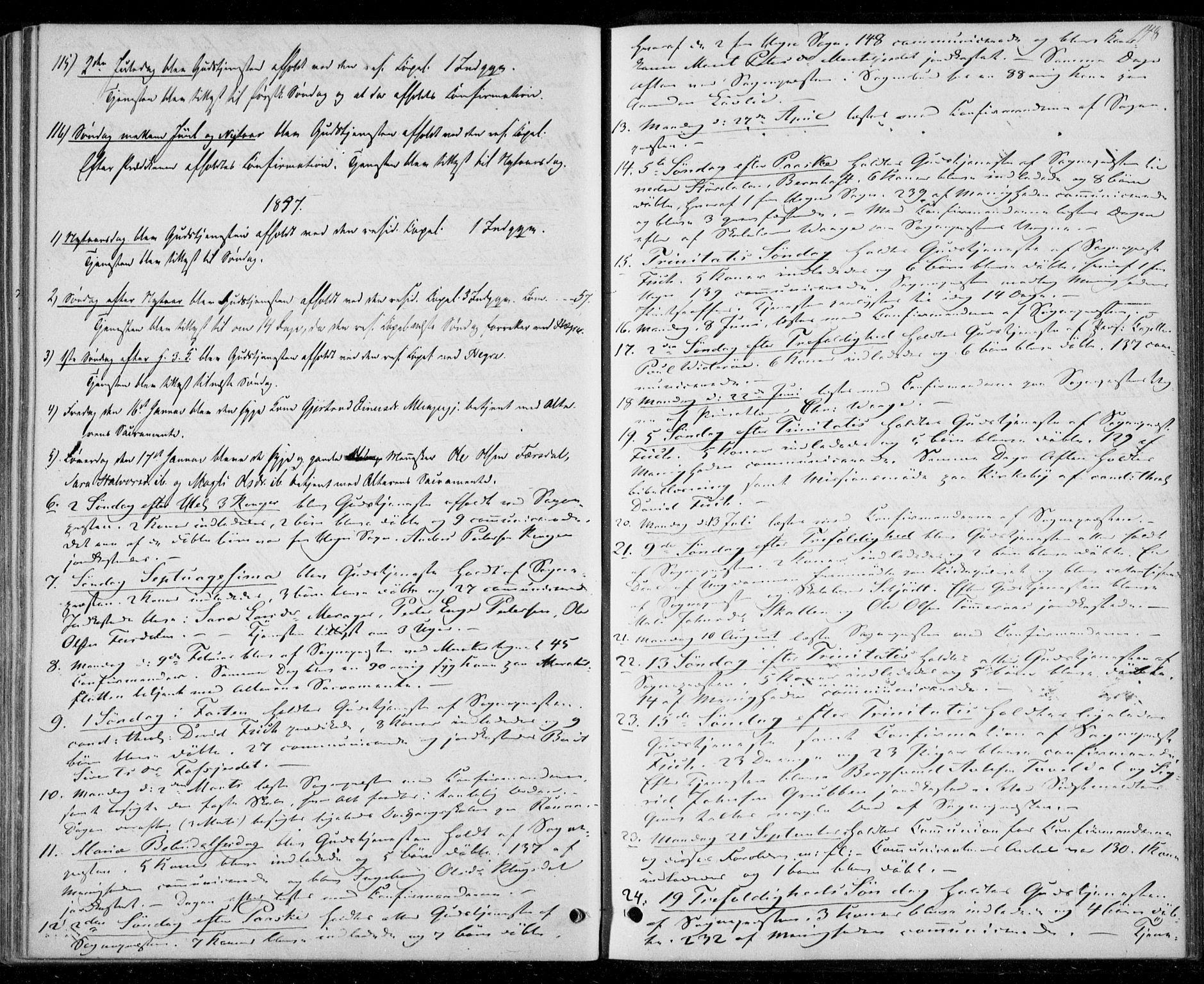 SAT, Ministerialprotokoller, klokkerbøker og fødselsregistre - Nord-Trøndelag, 706/L0040: Parish register (official) no. 706A01, 1850-1861, p. 148