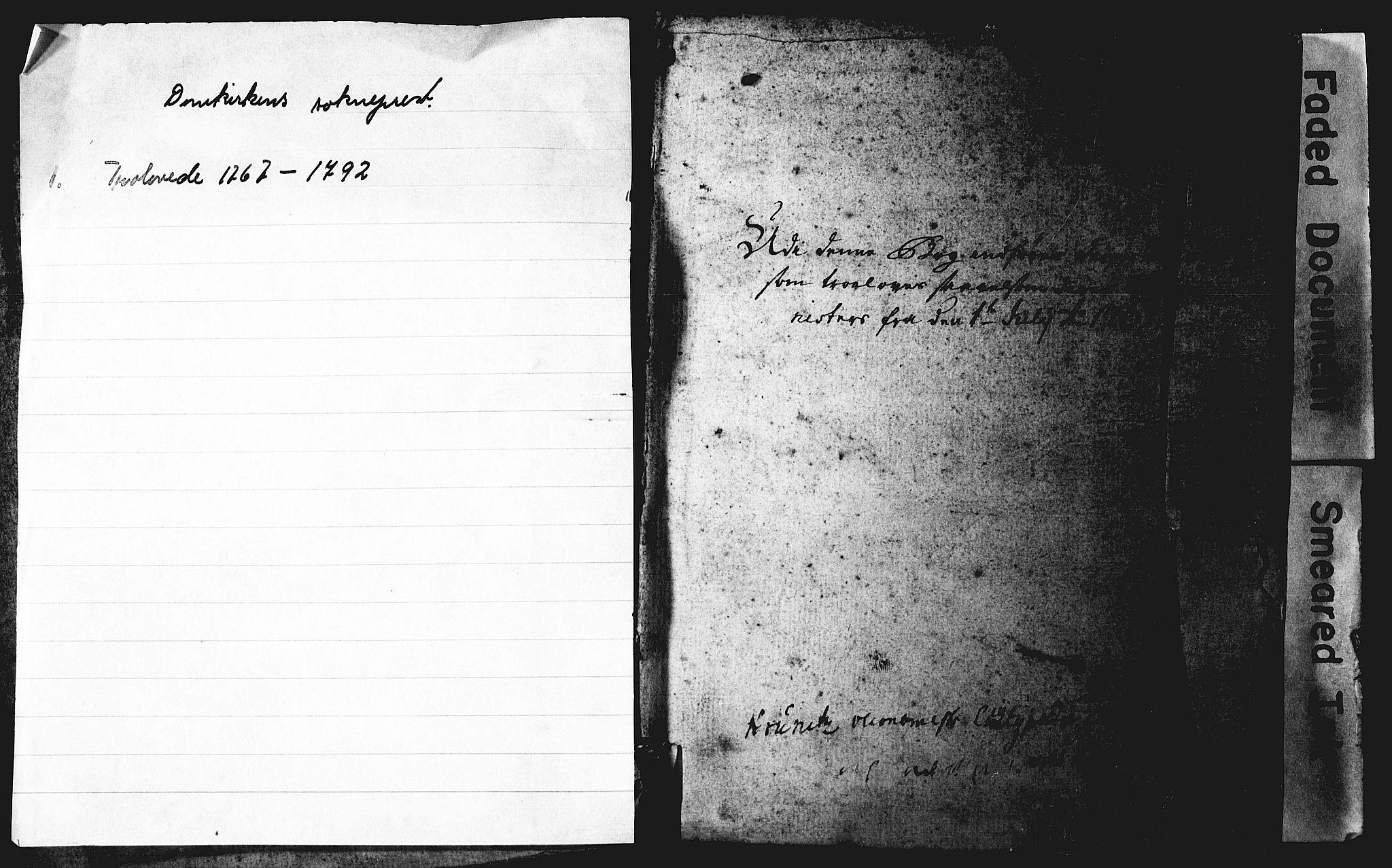 SAB, Domkirken Sokneprestembete, Best man's statements no. II.5.1, 1767-1792