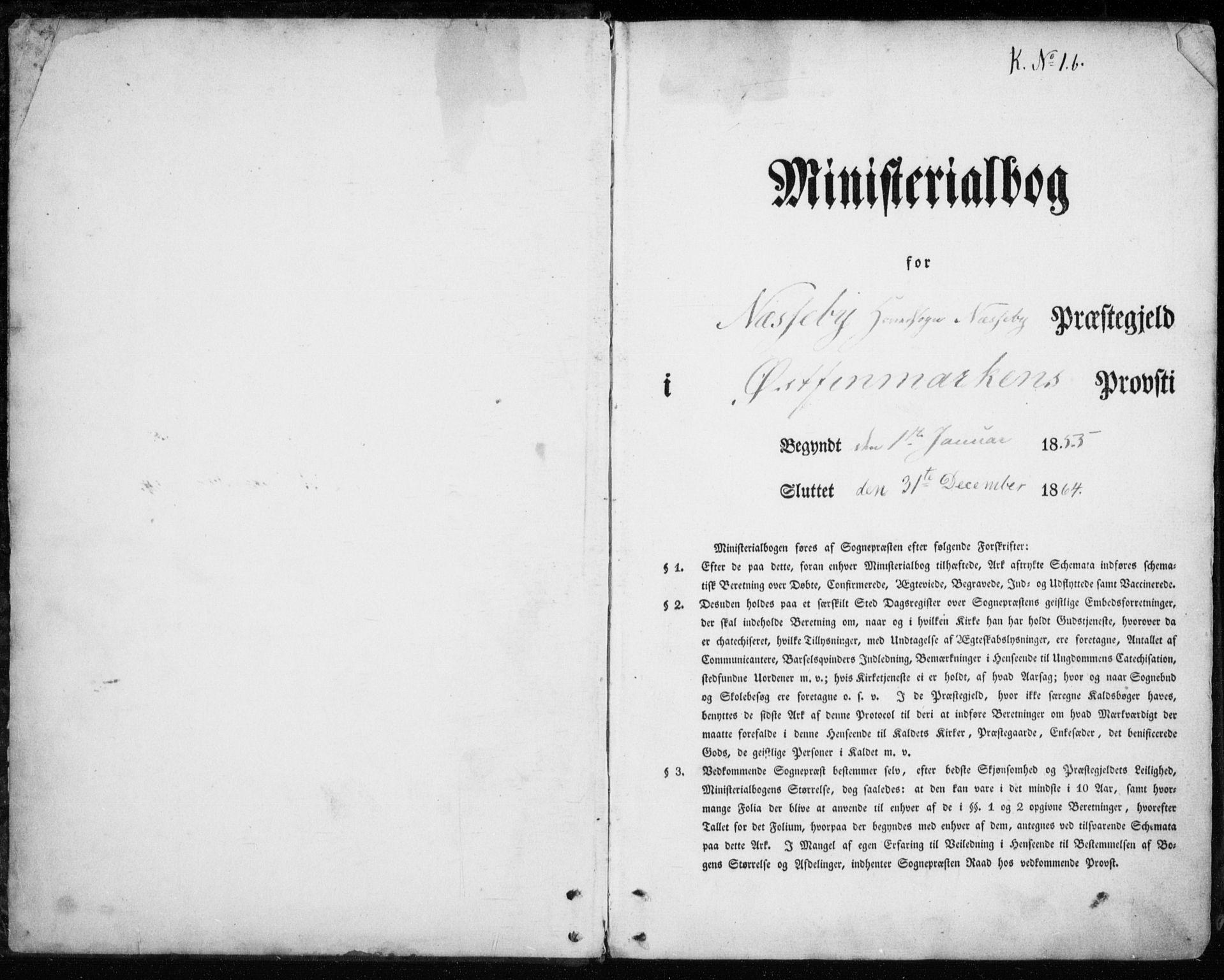 SATØ, Nesseby sokneprestkontor, H/Ha/L0002kirke: Parish register (official) no. 2, 1856-1864