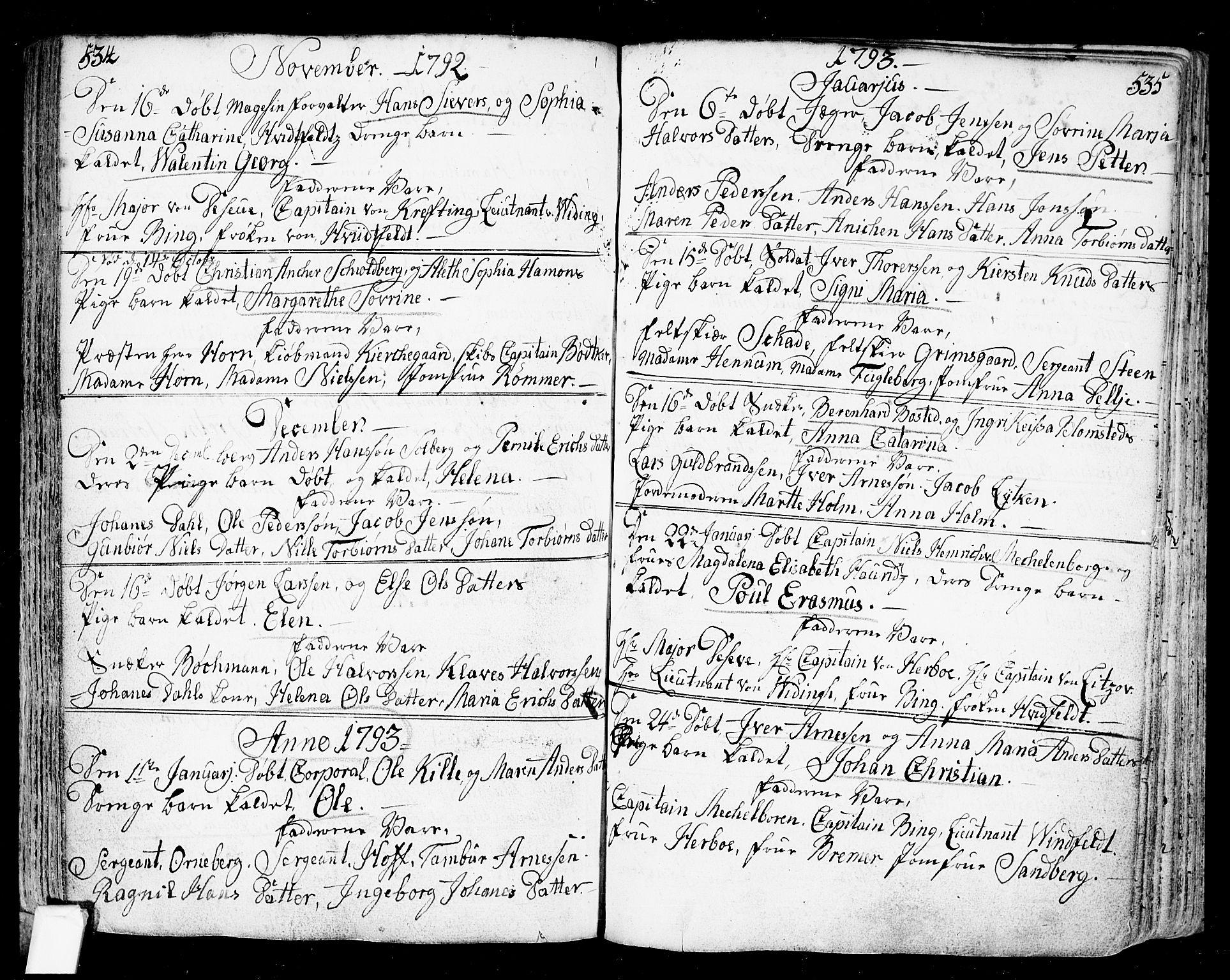 SAO, Fredrikstad prestekontor Kirkebøker, F/Fa/L0002: Parish register (official) no. 2, 1750-1804, p. 534-535