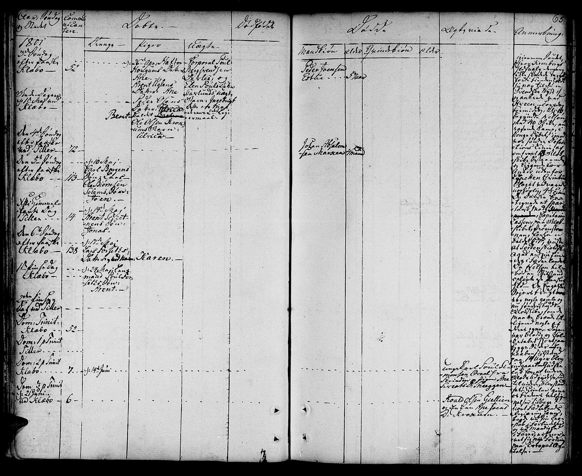 SAT, Ministerialprotokoller, klokkerbøker og fødselsregistre - Sør-Trøndelag, 618/L0438: Parish register (official) no. 618A03, 1783-1815, p. 65