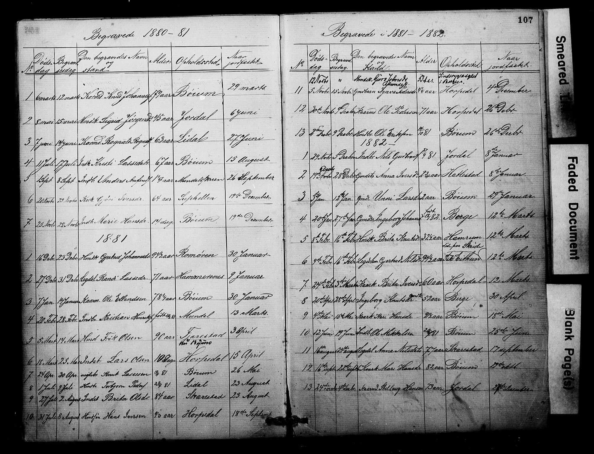 SAB, Balestrand sokneprestembete, Parish register (copy) no. B 1A, 1880-1916, p. 107