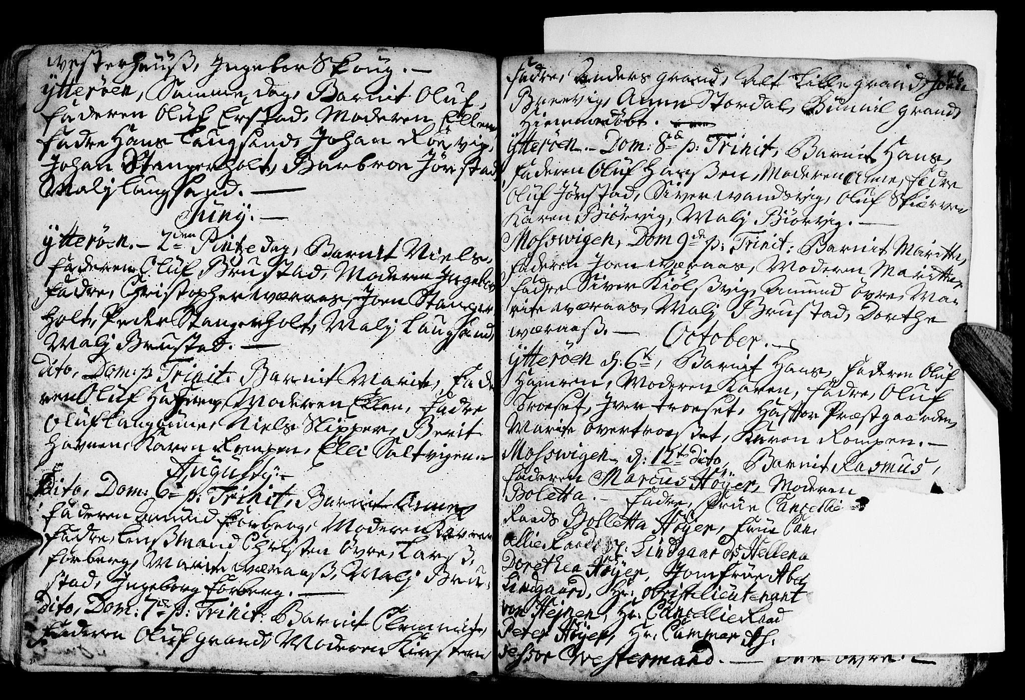 SAT, Ministerialprotokoller, klokkerbøker og fødselsregistre - Nord-Trøndelag, 722/L0215: Parish register (official) no. 722A02, 1718-1755, p. 46