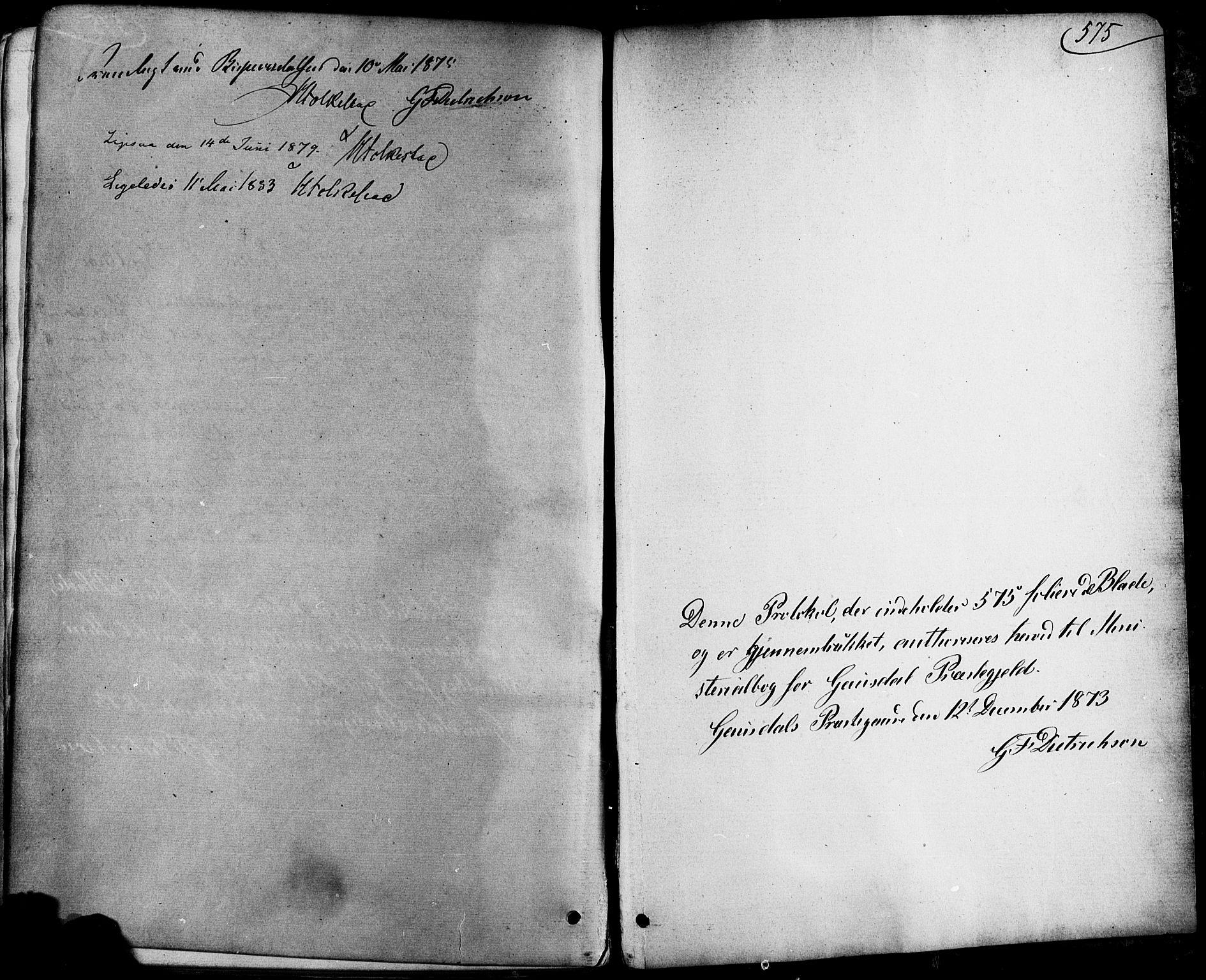 SAH, Østre Gausdal prestekontor, Parish register (official) no. 1, 1874-1886, p. 575
