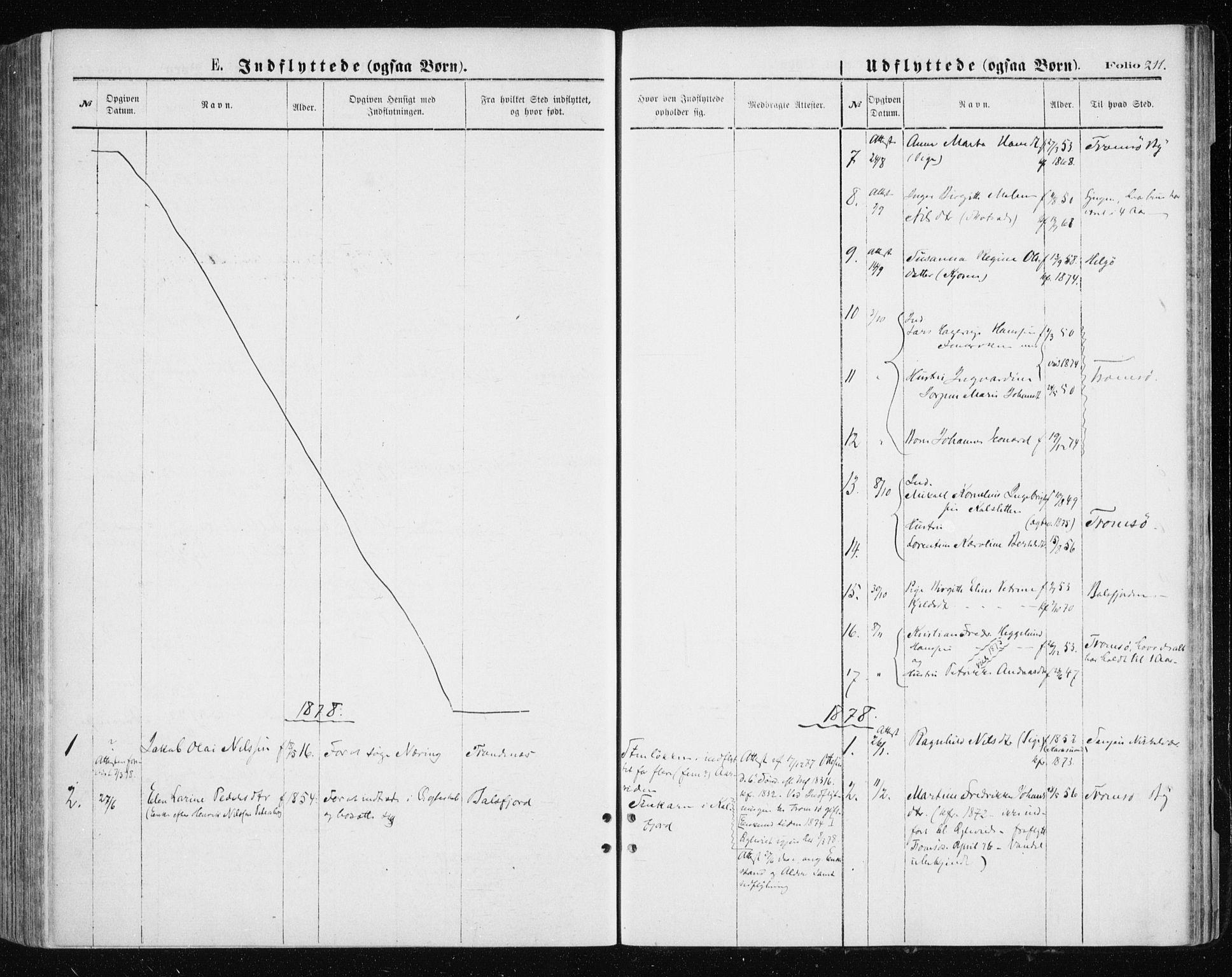 SATØ, Tromsøysund sokneprestkontor, G/Ga/L0003kirke: Parish register (official) no. 3, 1875-1880, p. 211