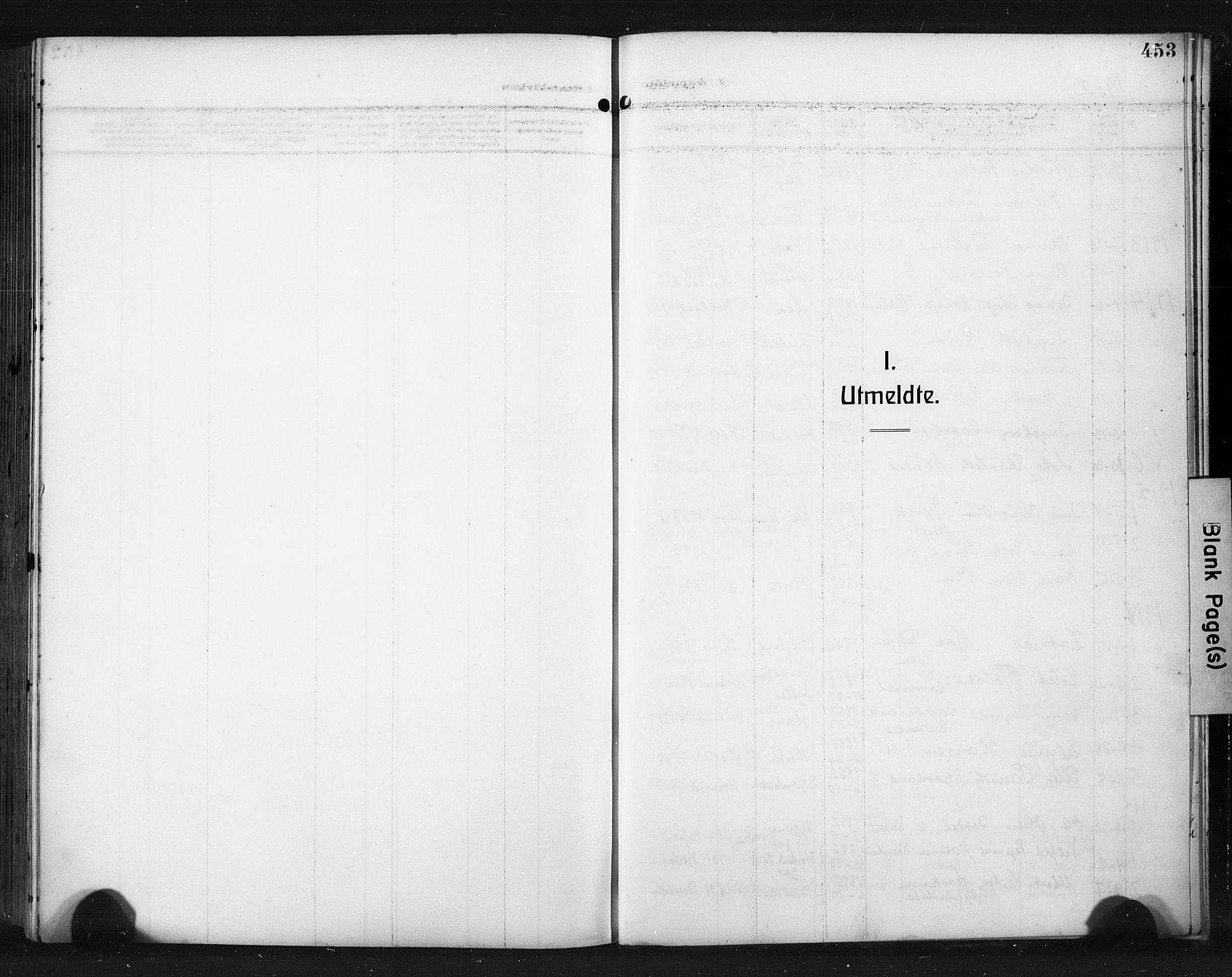 SAST, Høyland sokneprestkontor, 30BA/L0017: Parish register (official) no. A 15, 1912-1924, p. 453