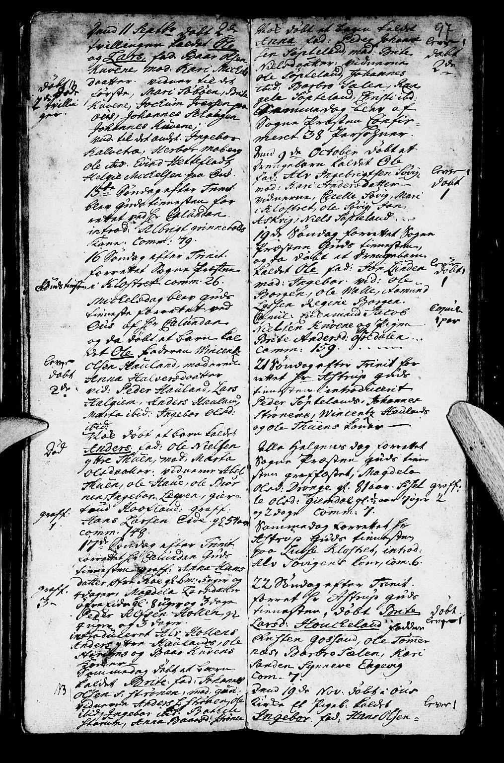SAB, Os sokneprestembete*, Parish register (official) no. A 2, 1723-1758, p. 97