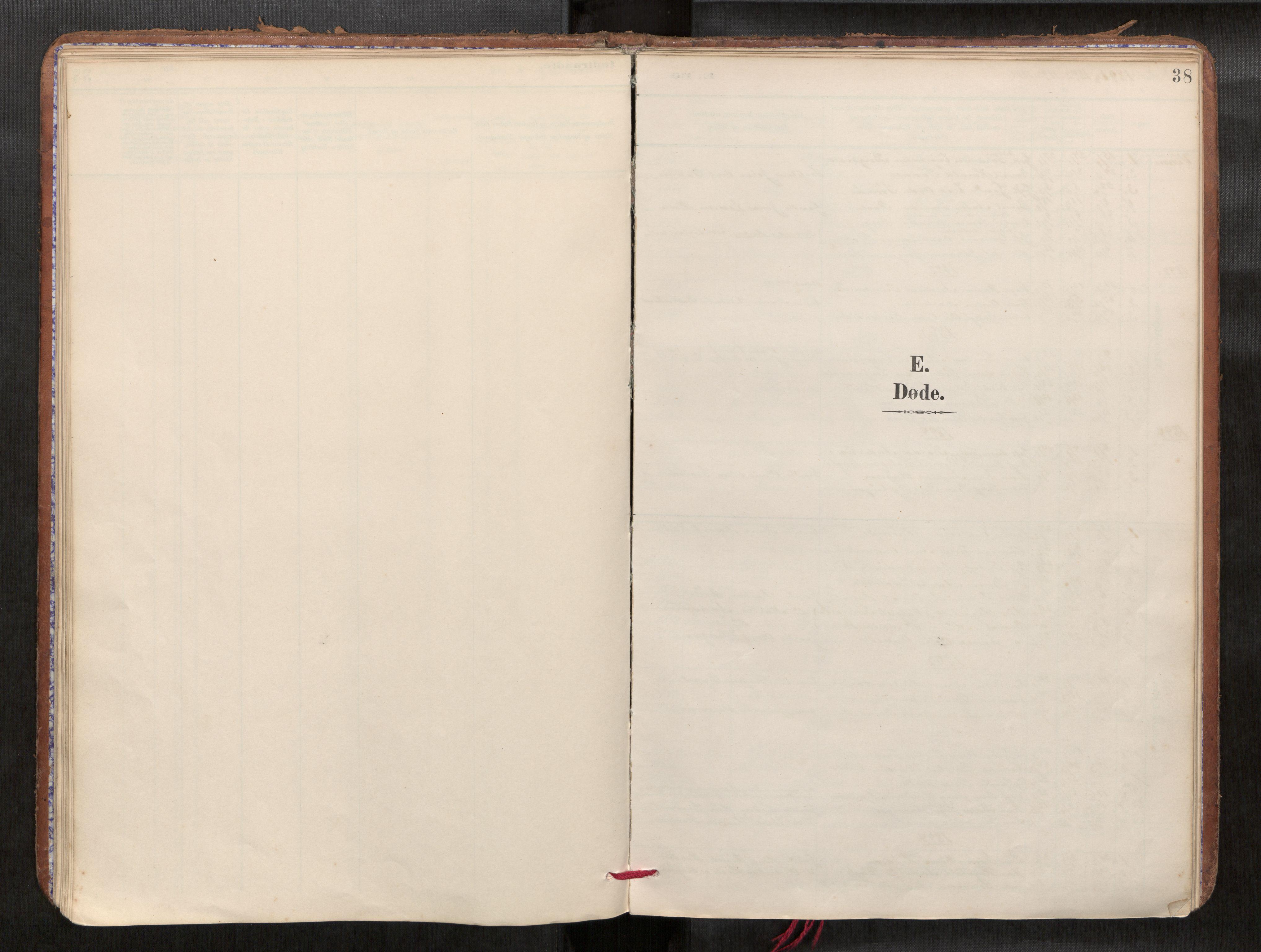SAT, Verdal sokneprestkontor*, Parish register (official) no. 1, 1891-1907, p. 38