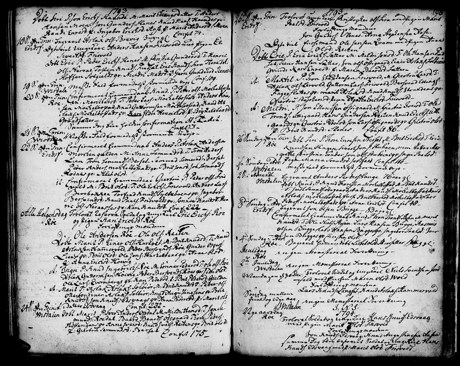 SAT, Ministerialprotokoller, klokkerbøker og fødselsregistre - Møre og Romsdal, 551/L0621: Parish register (official) no. 551A01, 1757-1803, p. 198