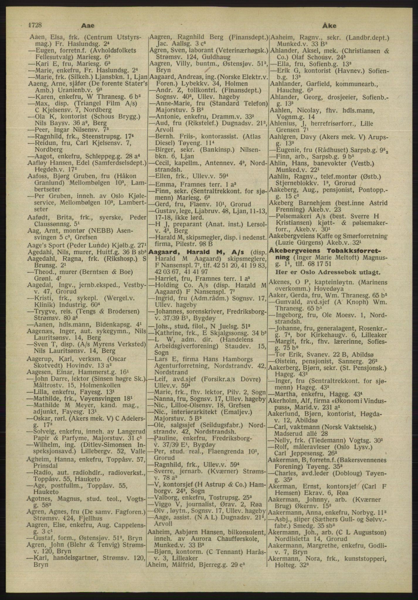 PUBL, Kristiania/Oslo adressebok, 1955, p. 1728