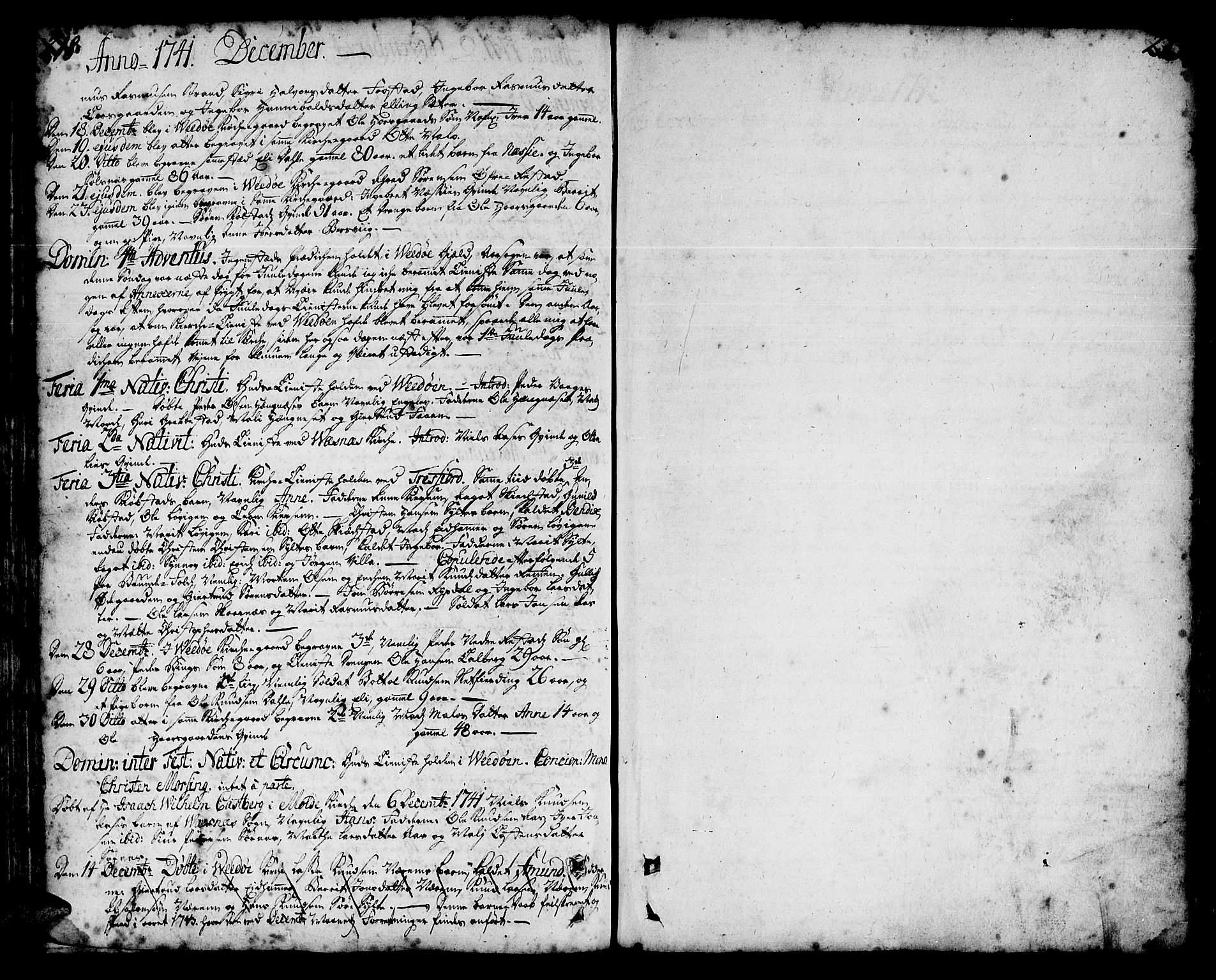 SAT, Ministerialprotokoller, klokkerbøker og fødselsregistre - Møre og Romsdal, 547/L0599: Parish register (official) no. 547A01, 1721-1764, p. 218-219