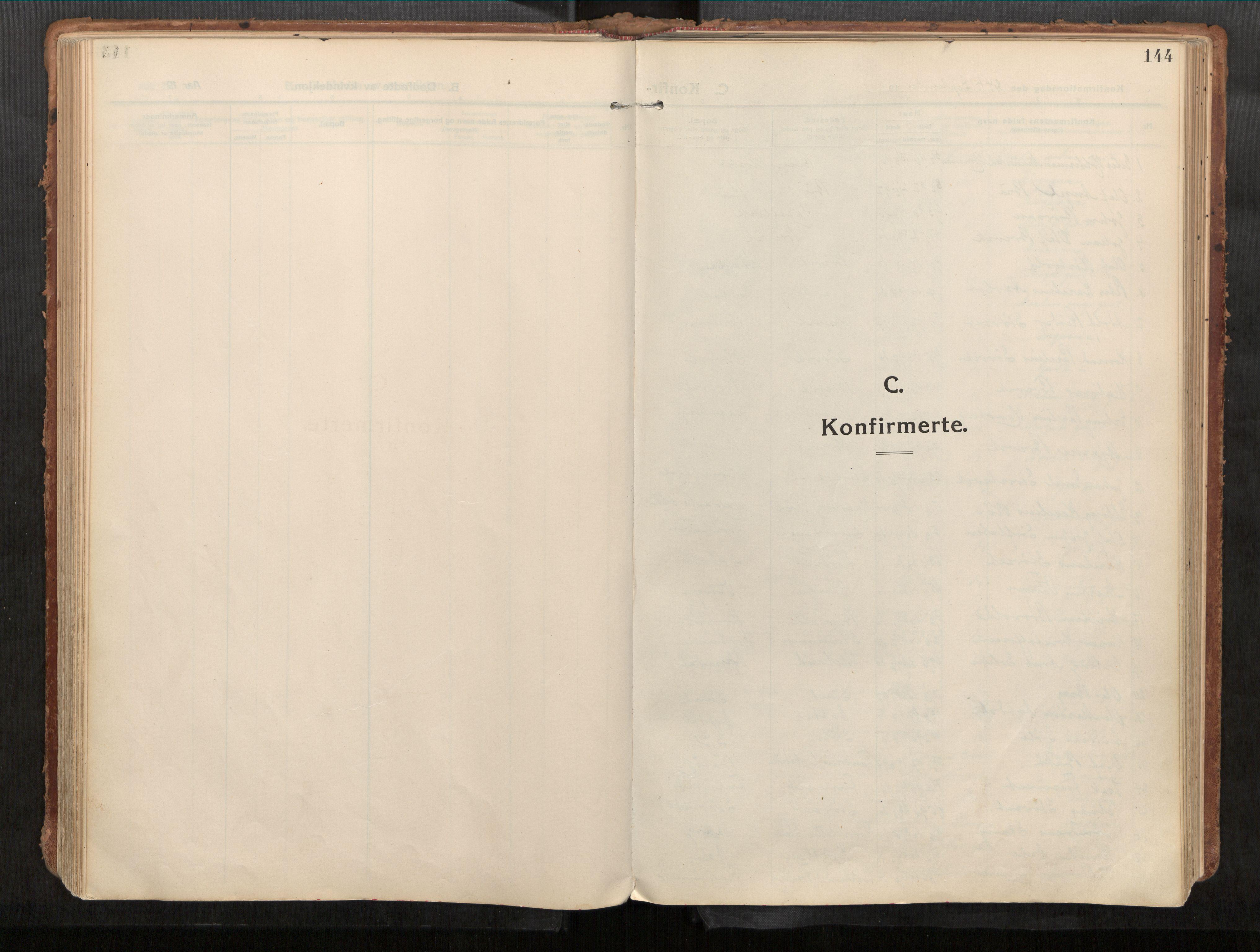 SAT, Stadsbygd sokneprestkontor, I/I1/I1a/L0001: Parish register (official) no. 1, 1911-1929, p. 144