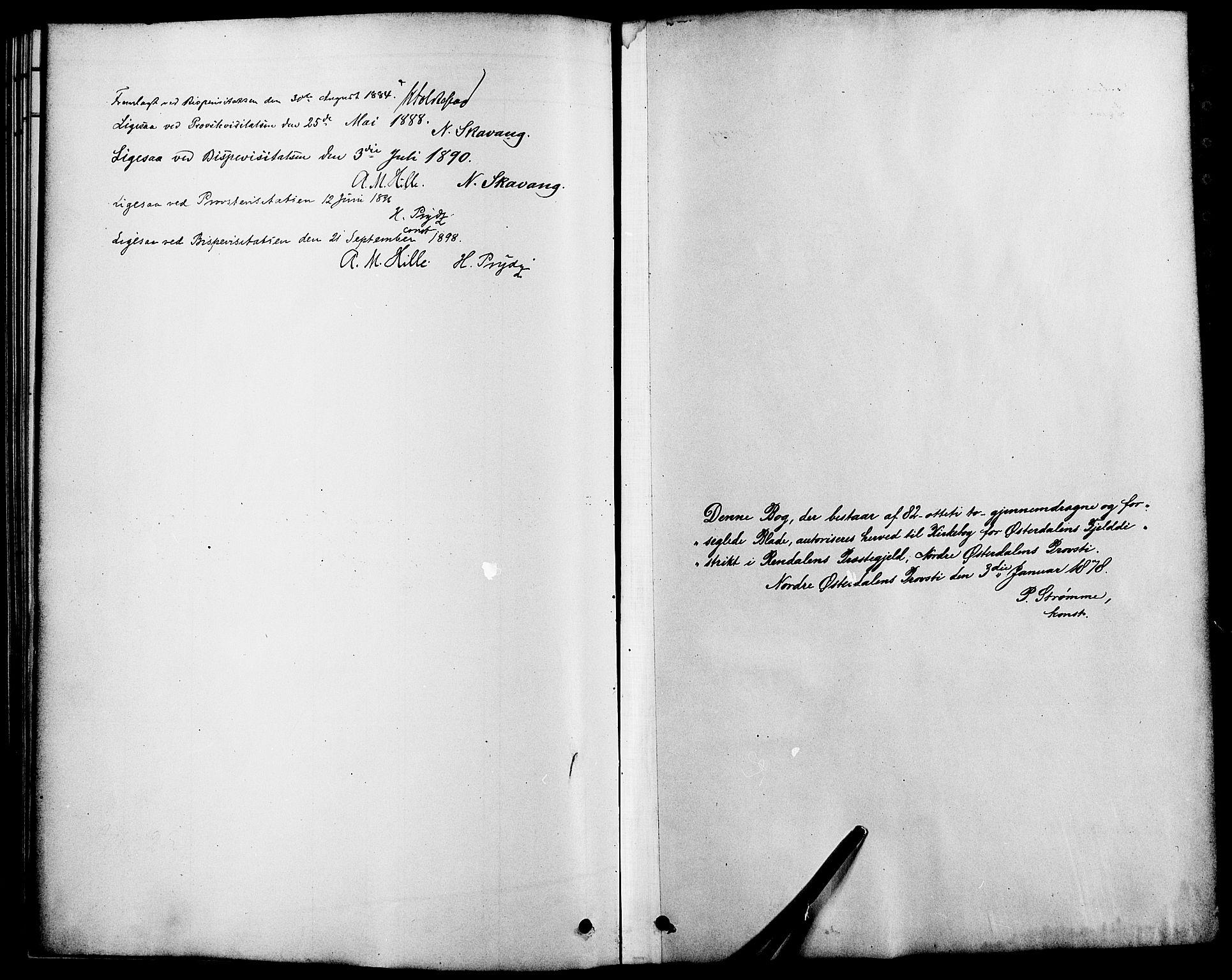 SAH, Rendalen prestekontor, H/Ha/Haa/L0007: Parish register (official) no. 7, 1878-1898