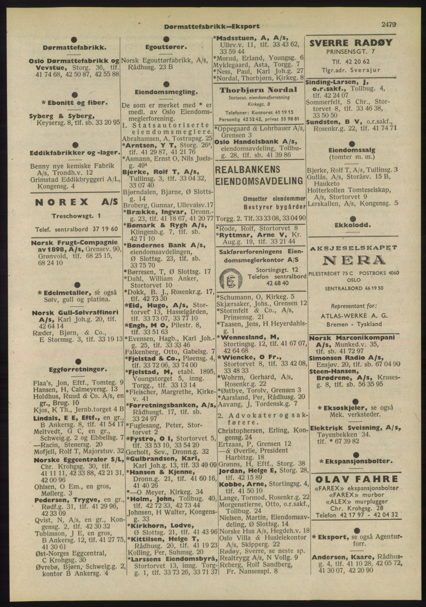 PUBL, Kristiania/Oslo adressebok, 1955, p. 2479