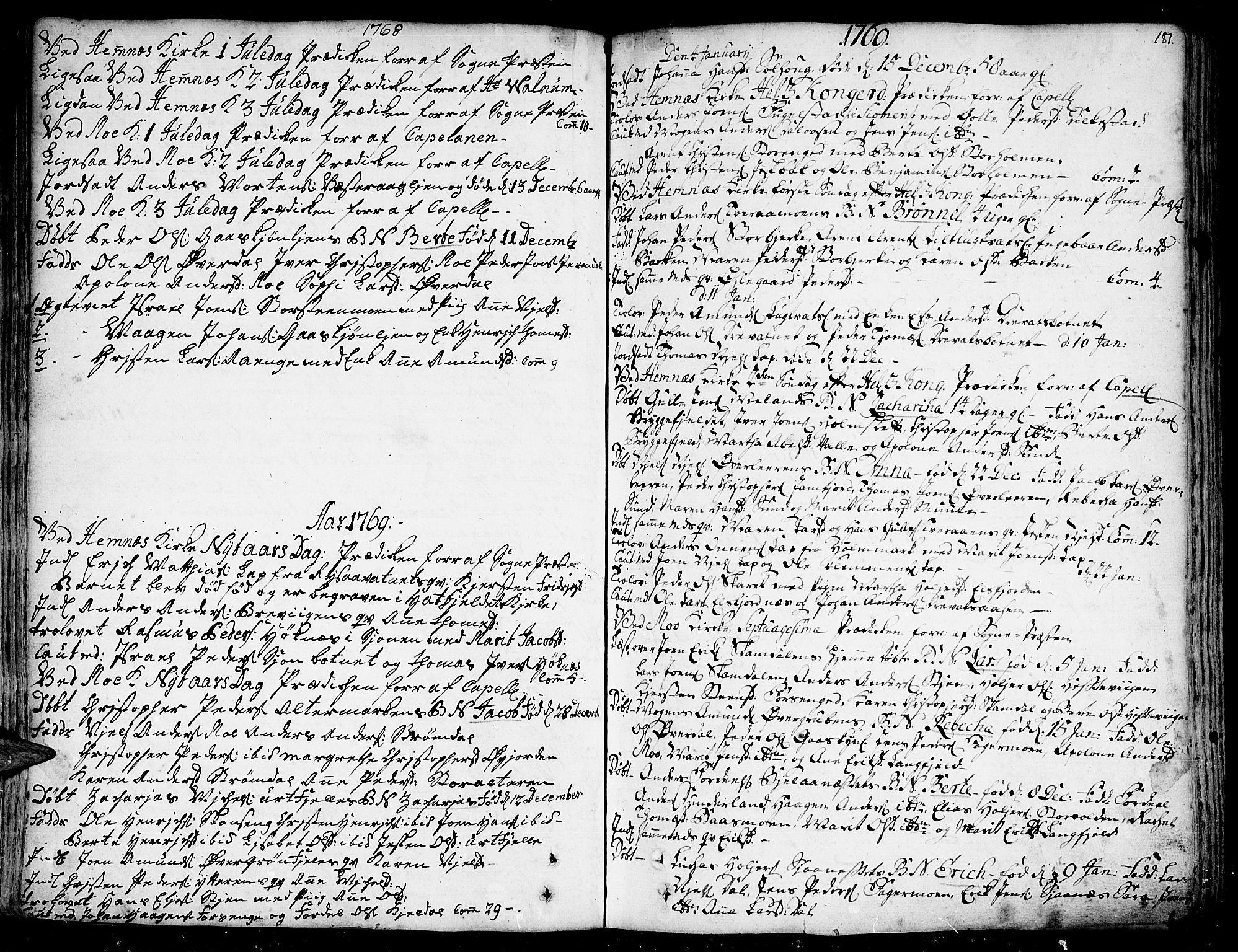 SAT, Ministerialprotokoller, klokkerbøker og fødselsregistre - Nordland, 825/L0348: Parish register (official) no. 825A04, 1752-1788, p. 181