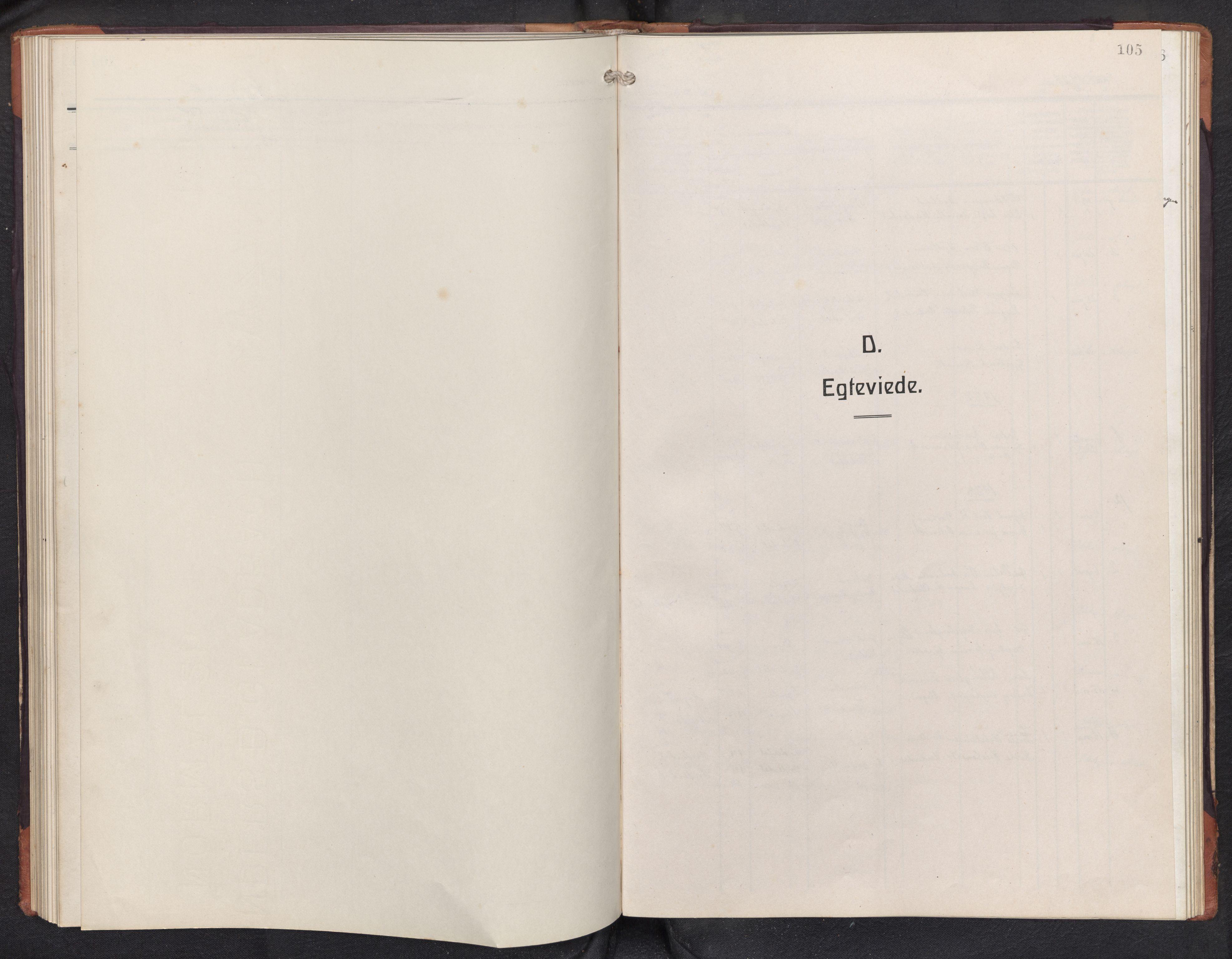 SAB, Aurland sokneprestembete, H/Hb/Hbd/L0003: Parish register (copy) no. D 3, 1920-1968, p. 104b-105a