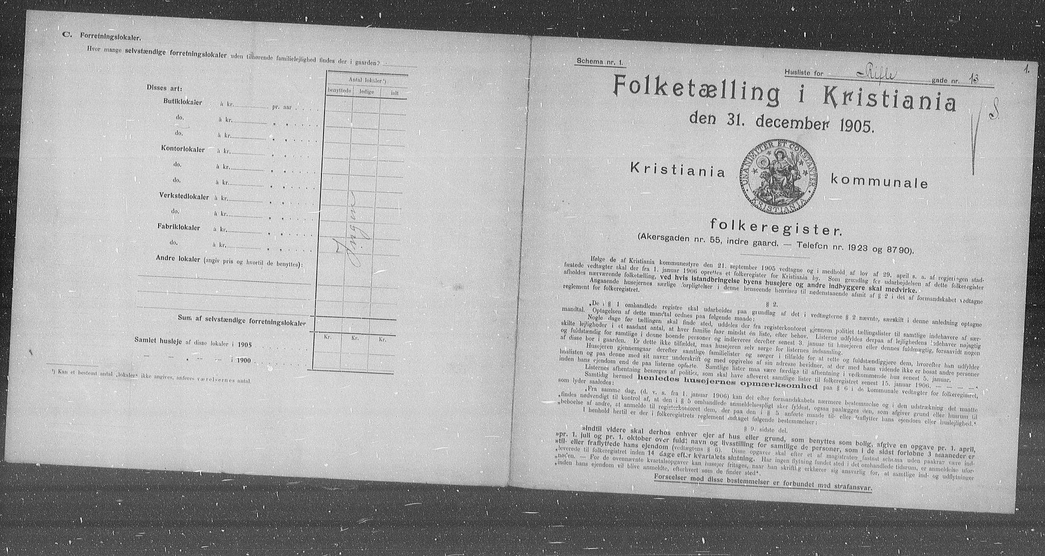 OBA, Municipal Census 1905 for Kristiania, 1905, p. 43802