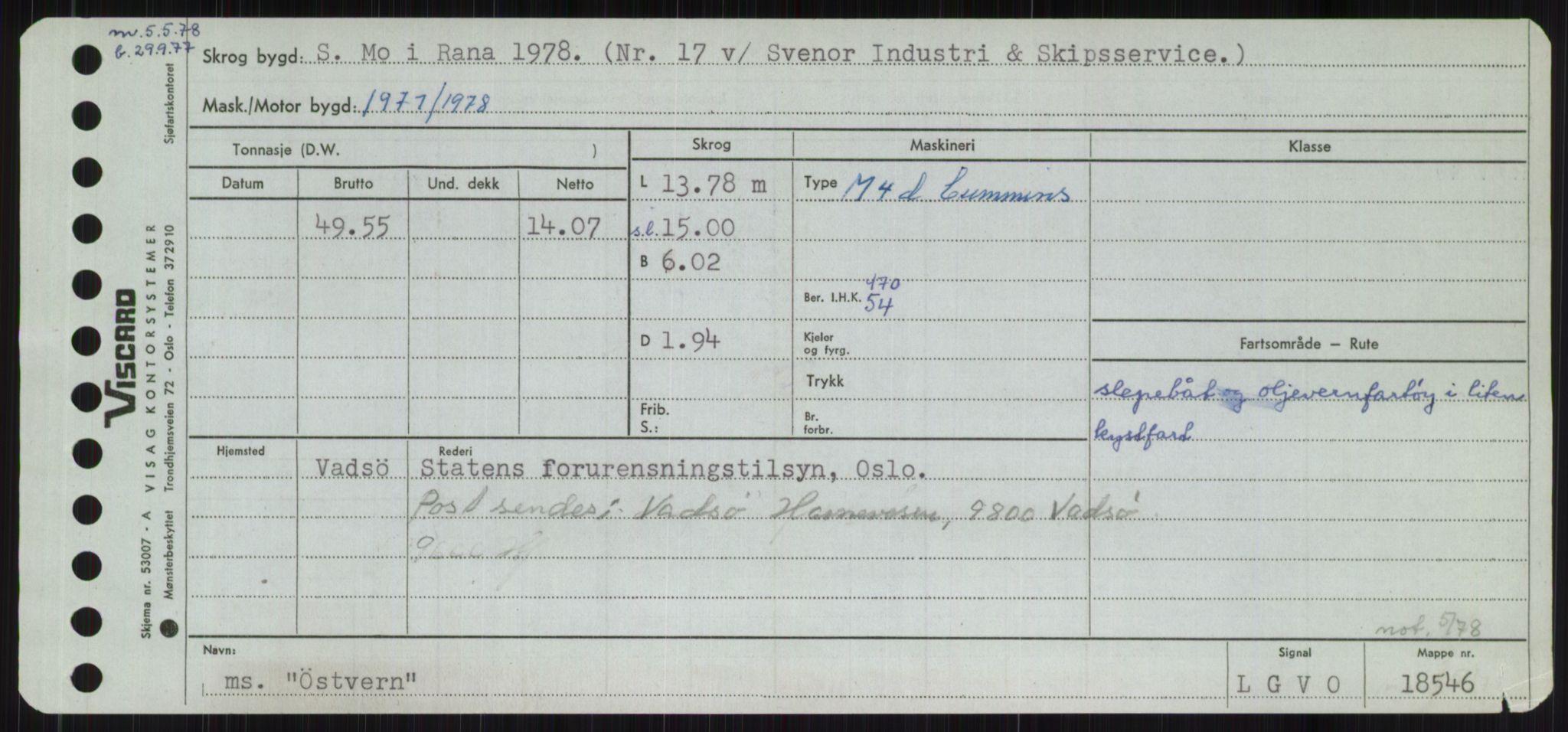 RA, Sjøfartsdirektoratet med forløpere, Skipsmålingen, H/Ha/L0006: Fartøy, Sver-Å, p. 774