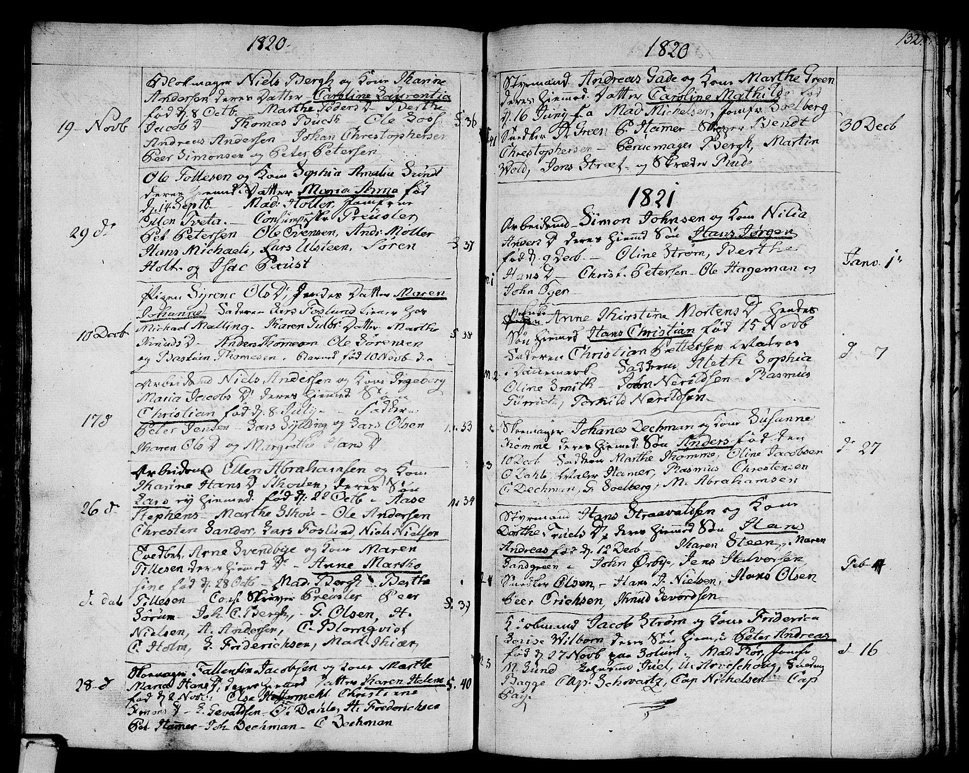 SAKO, Strømsø kirkebøker, F/Fa/L0010: Parish register (official) no. I 10, 1792-1822, p. 132