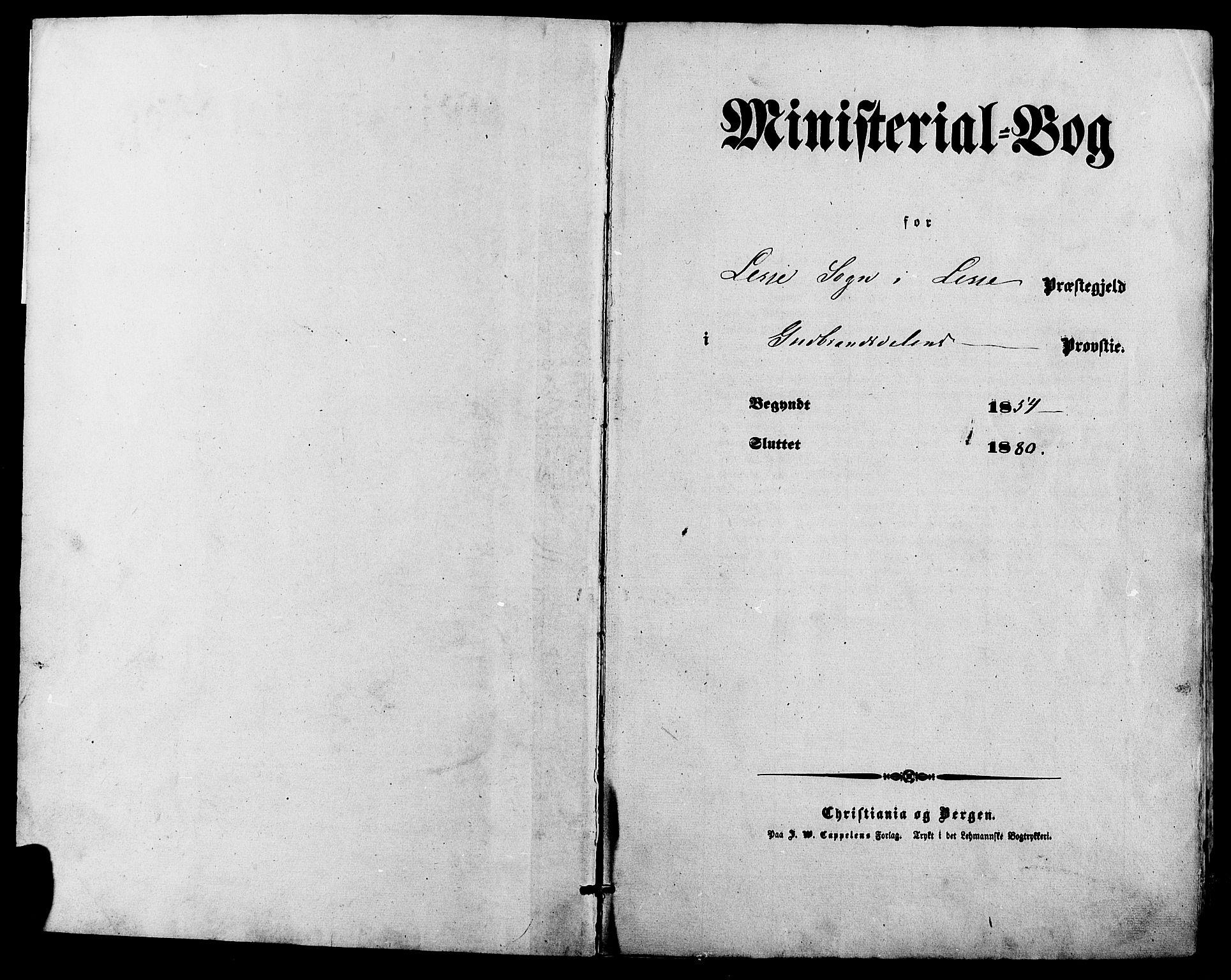 SAH, Lesja prestekontor, Parish register (official) no. 8, 1854-1880