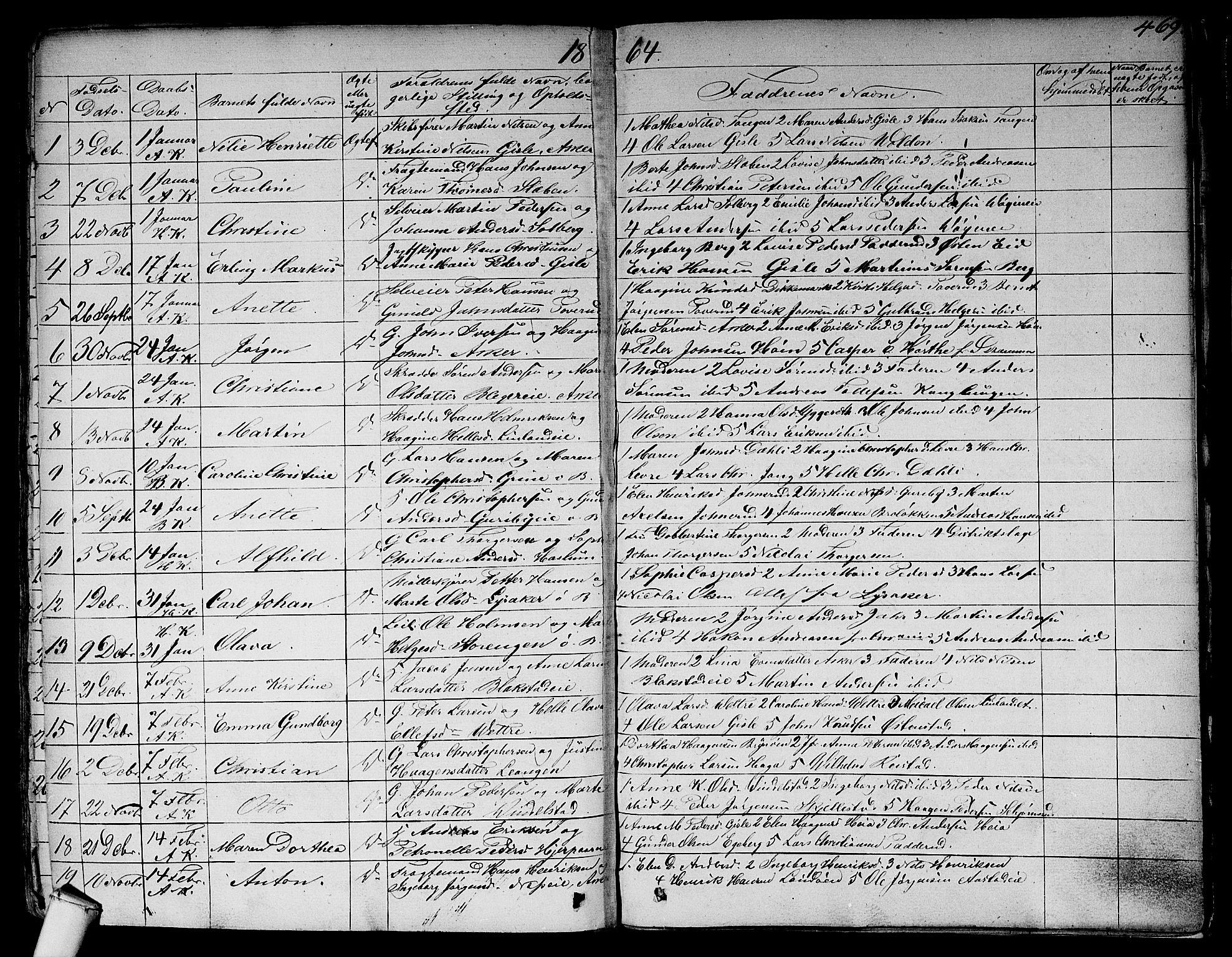 SAO, Asker prestekontor Kirkebøker, F/Fa/L0007: Parish register (official) no. I 7, 1825-1864, p. 469