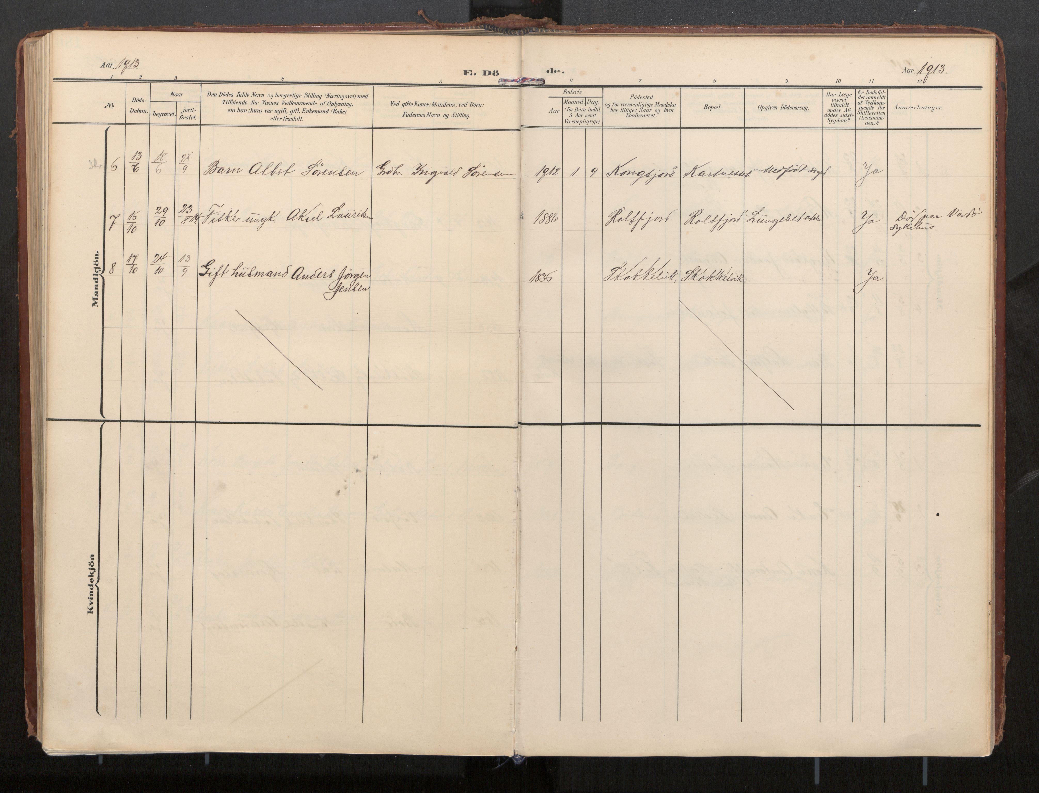 SAT, Ministerialprotokoller, klokkerbøker og fødselsregistre - Nordland, 884/L1194: Parish register (official) no. 884A02, 1906-1937, p. 187