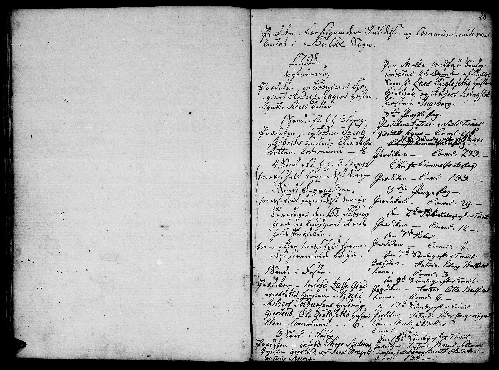 SAT, Ministerialprotokoller, klokkerbøker og fødselsregistre - Møre og Romsdal, 555/L0649: Parish register (official) no. 555A02 /1, 1795-1821, p. 28