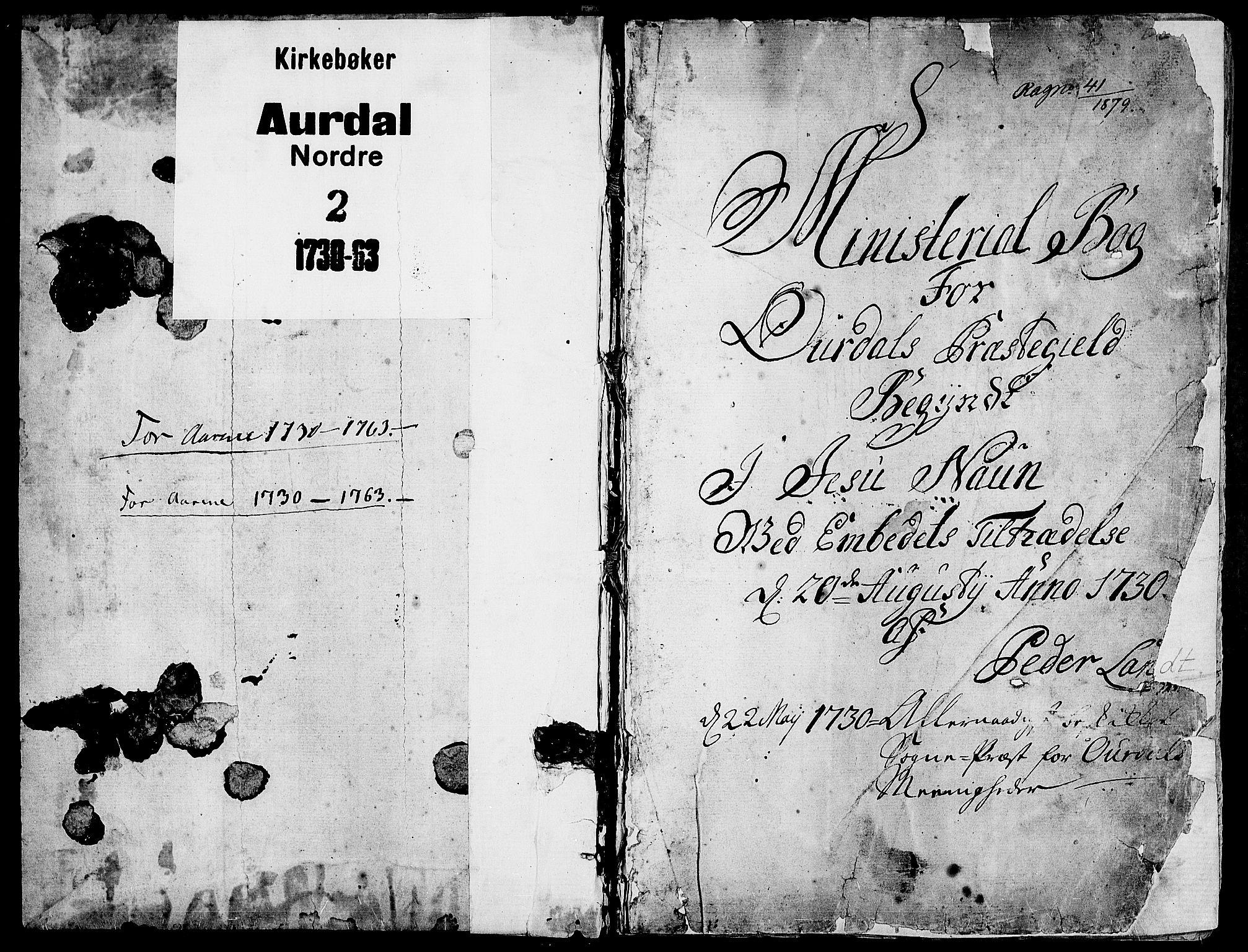 SAH, Aurdal prestekontor, Parish register (official) no. 4, 1730-1762