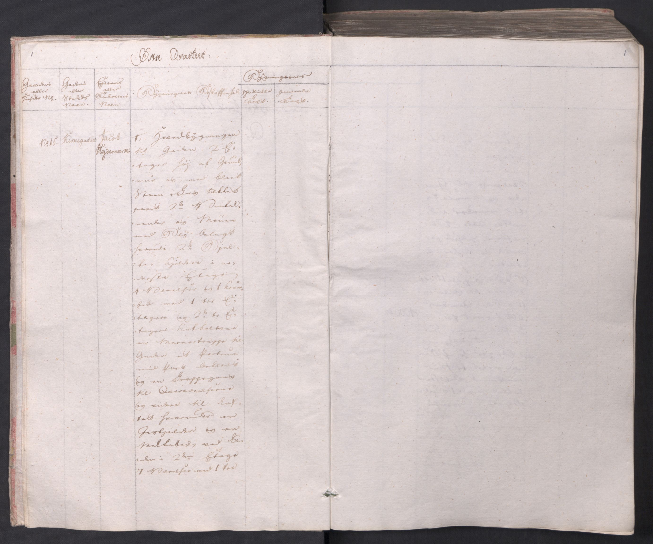 SAO, Kristiania stiftamt, I/Ia/L0015: Branntakster, 1797, p. 1
