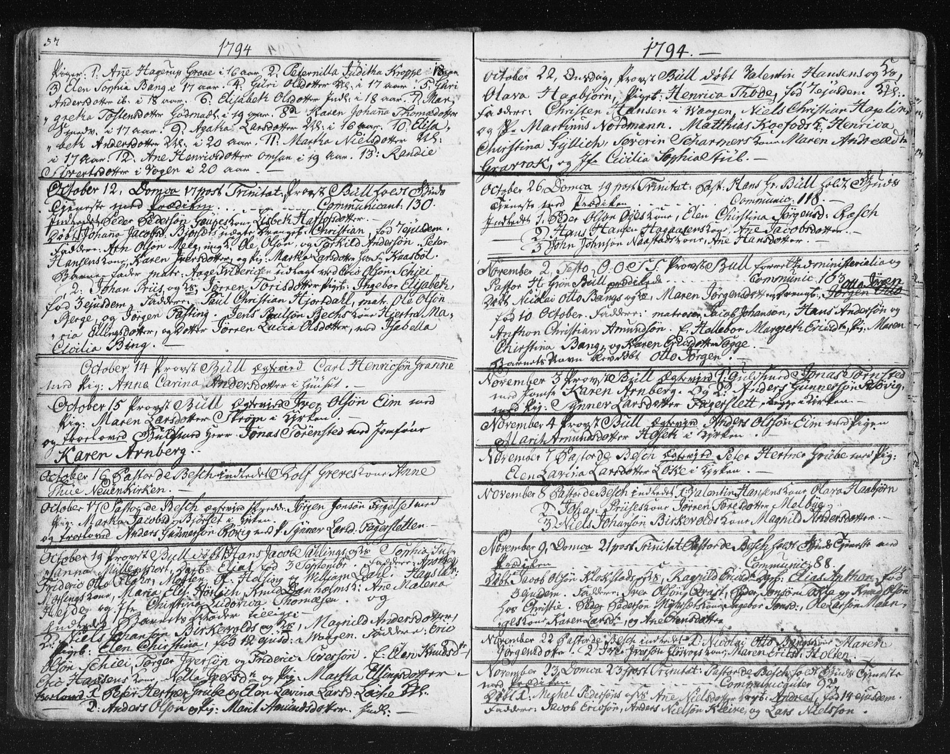 SAT, Ministerialprotokoller, klokkerbøker og fødselsregistre - Møre og Romsdal, 572/L0841: Parish register (official) no. 572A04, 1784-1819, p. 57