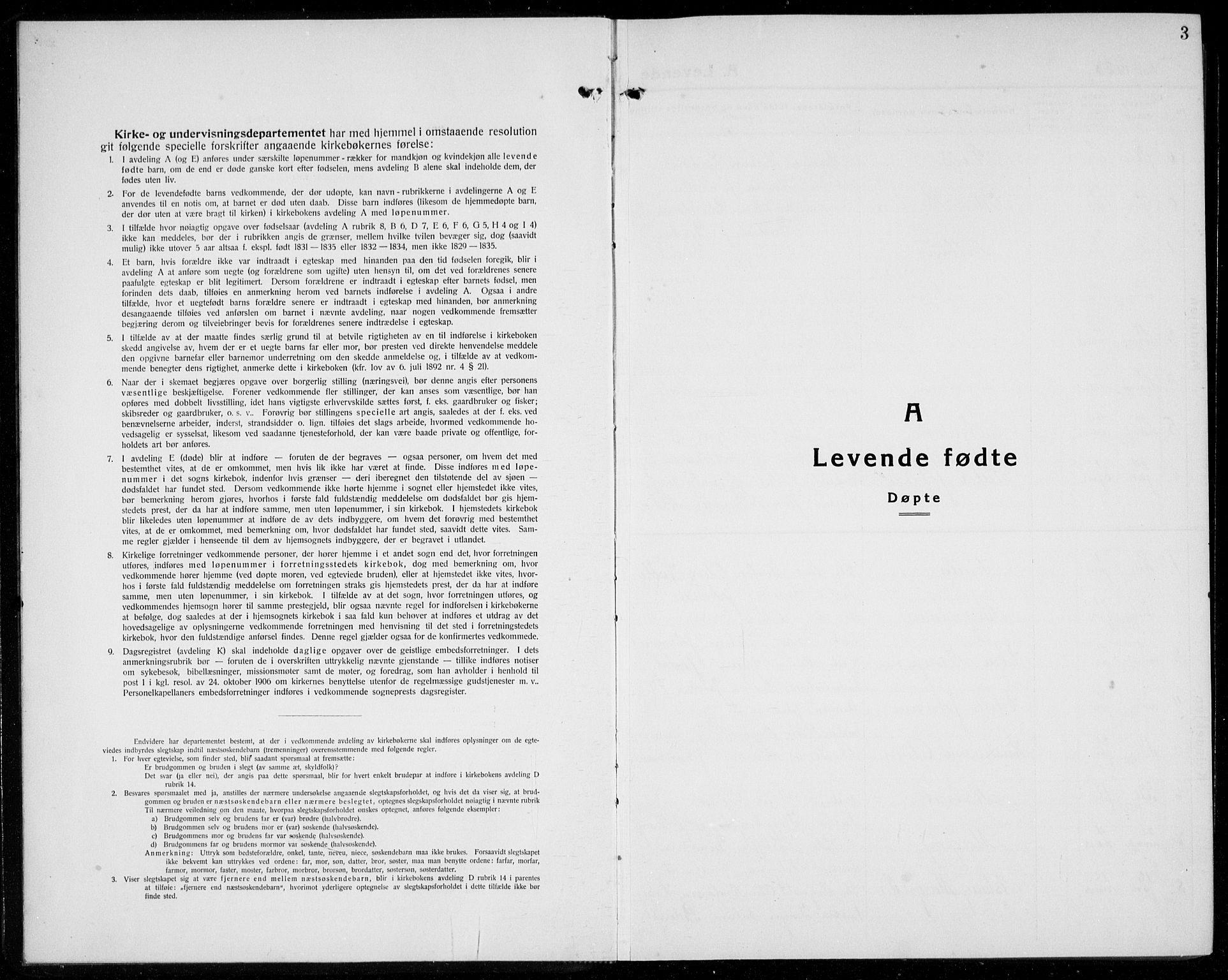 SAB, Os sokneprestembete*, Parish register (copy) no. A 5, 1923-1941, p. 3
