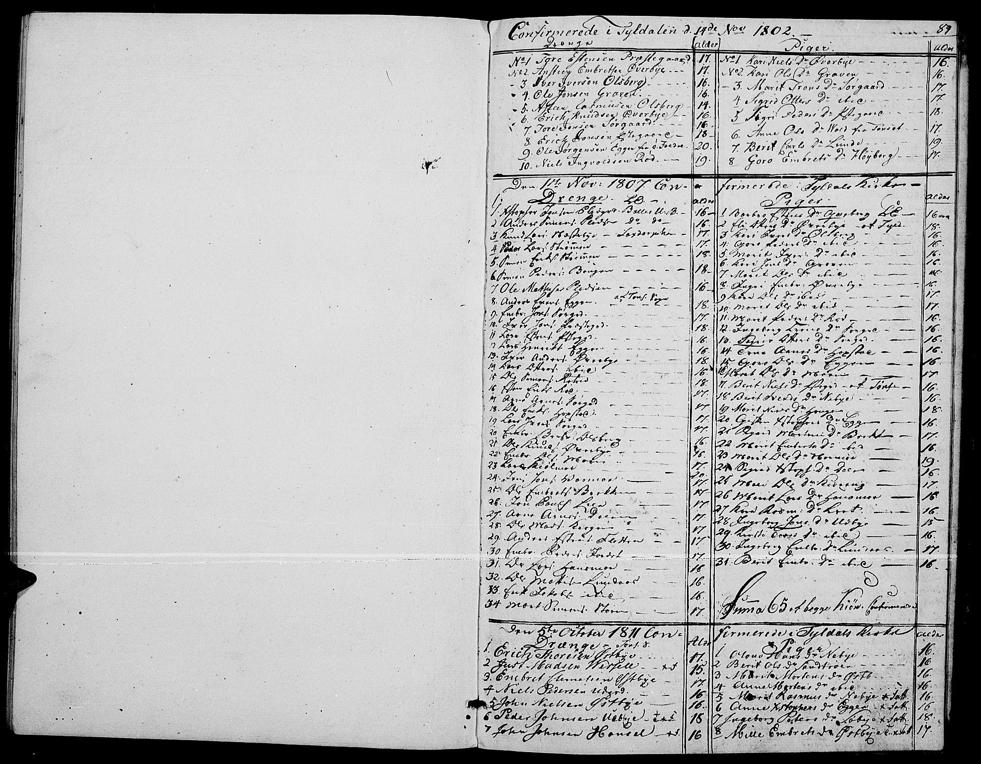 SAH, Tynset prestekontor, Parish register (official) no. 17, 1801-1814, p. 89