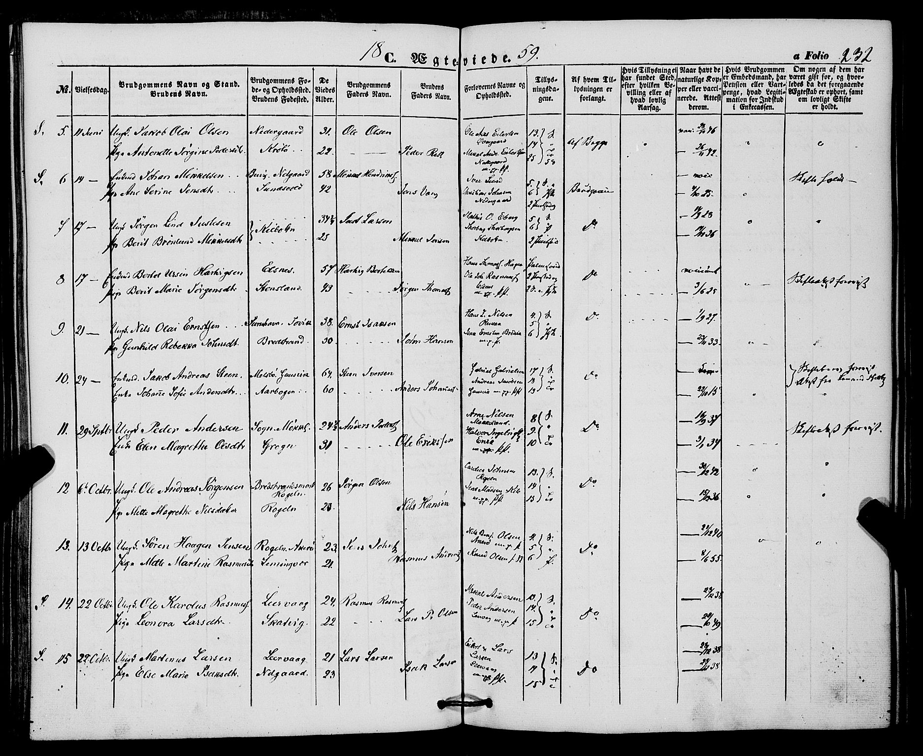 SATØ, Trondenes sokneprestkontor, H/Ha/L0011kirke: Parish register (official) no. 11, 1853-1862, p. 232