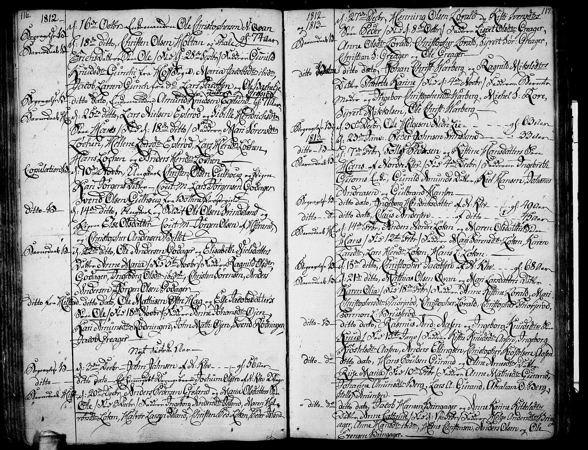 SAKO, Botne kirkebøker, F/Fa/L0003: Parish register (official) no. I 3 /1, 1792-1844, p. 116-117