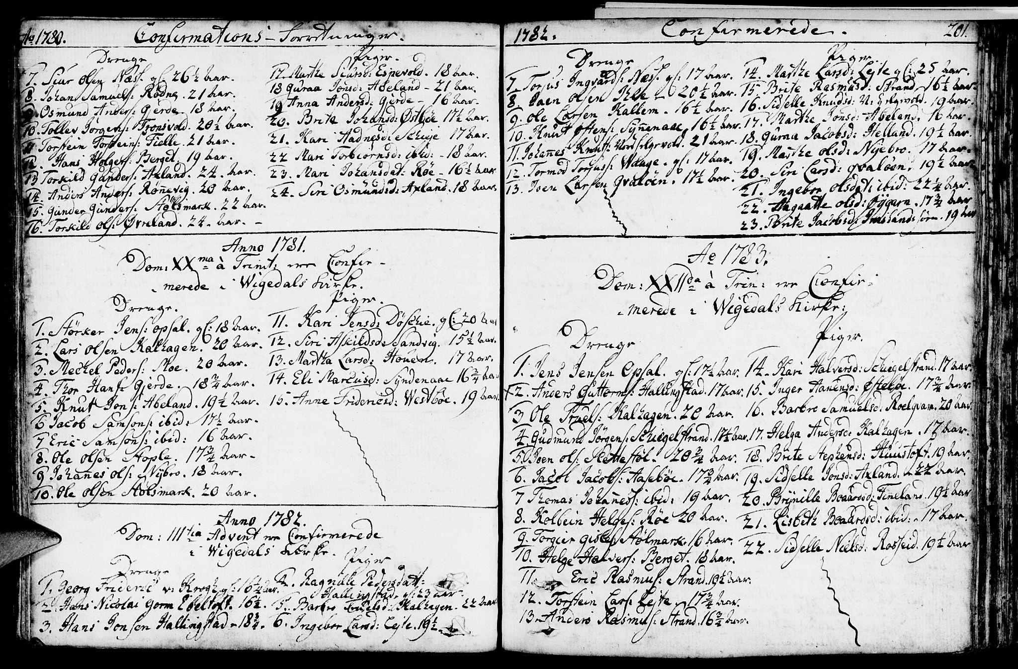 SAST, Vikedal sokneprestkontor, IV: Parish register (official) no. A 2, 1779-1817, p. 201