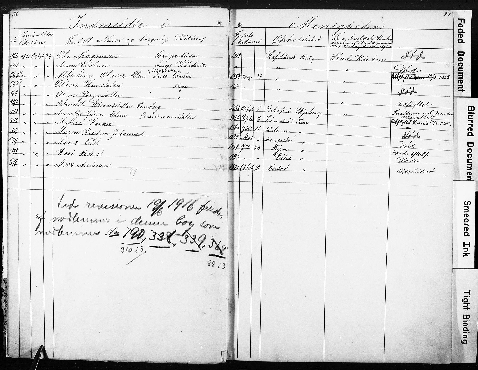 SAO, Sarpsborg metodistkirke, A/L0001: Dissenter register no. 1, 1856-1875, p. 26-27