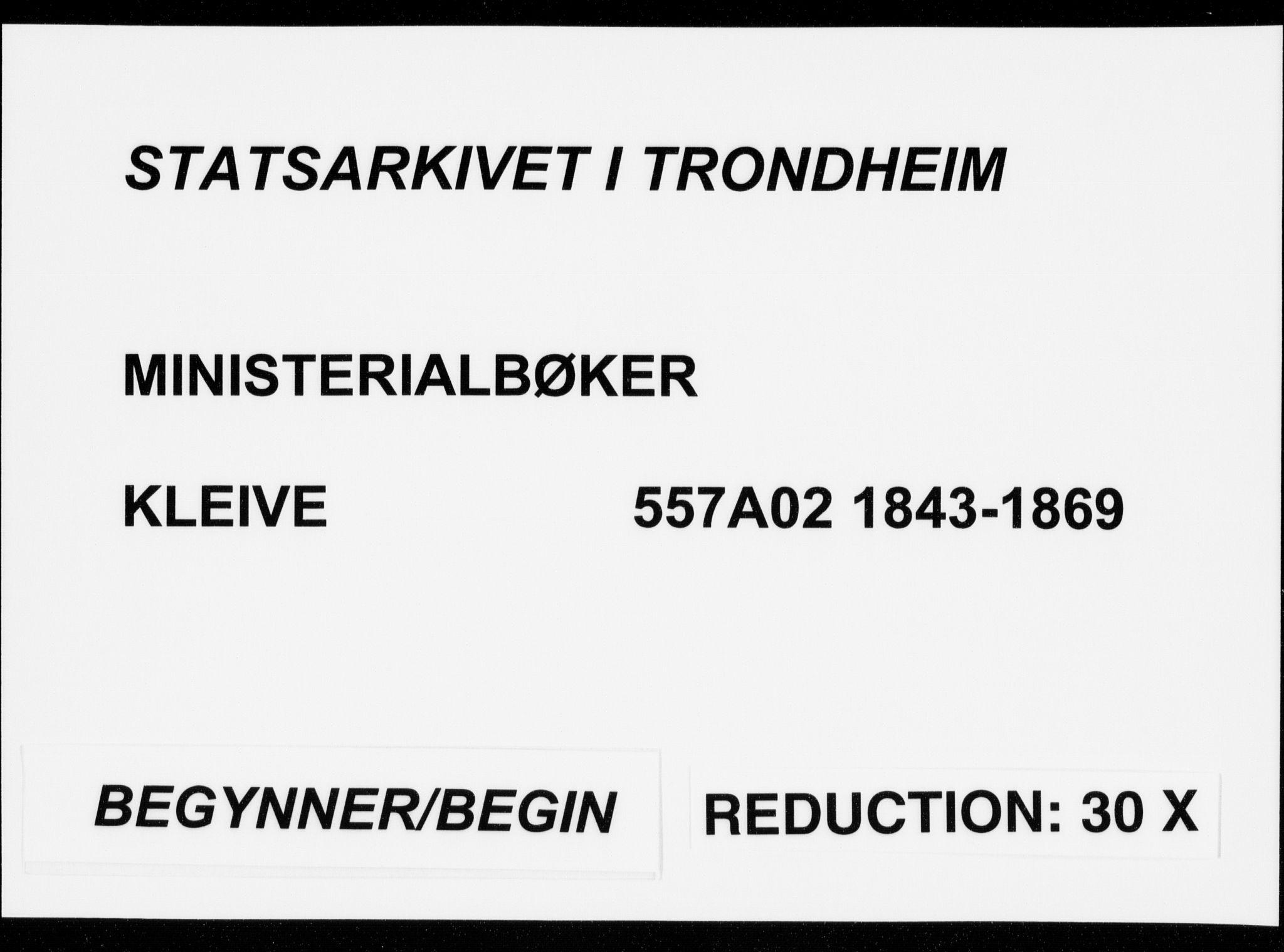 SAT, Ministerialprotokoller, klokkerbøker og fødselsregistre - Møre og Romsdal, 557/L0680: Parish register (official) no. 557A02, 1843-1869