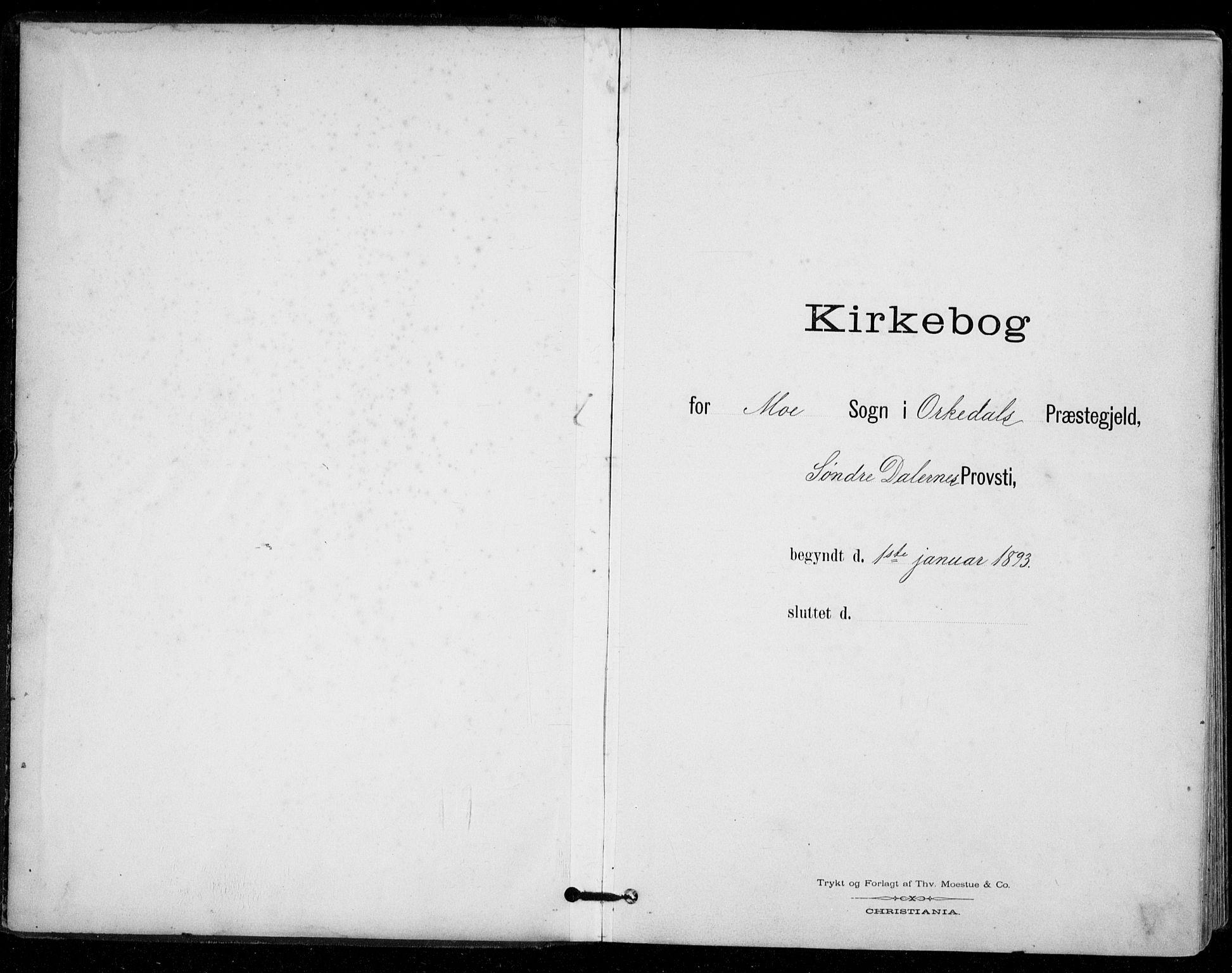 SAT, Ministerialprotokoller, klokkerbøker og fødselsregistre - Sør-Trøndelag, 671/L0841: Parish register (official) no. 671A03, 1893-1915