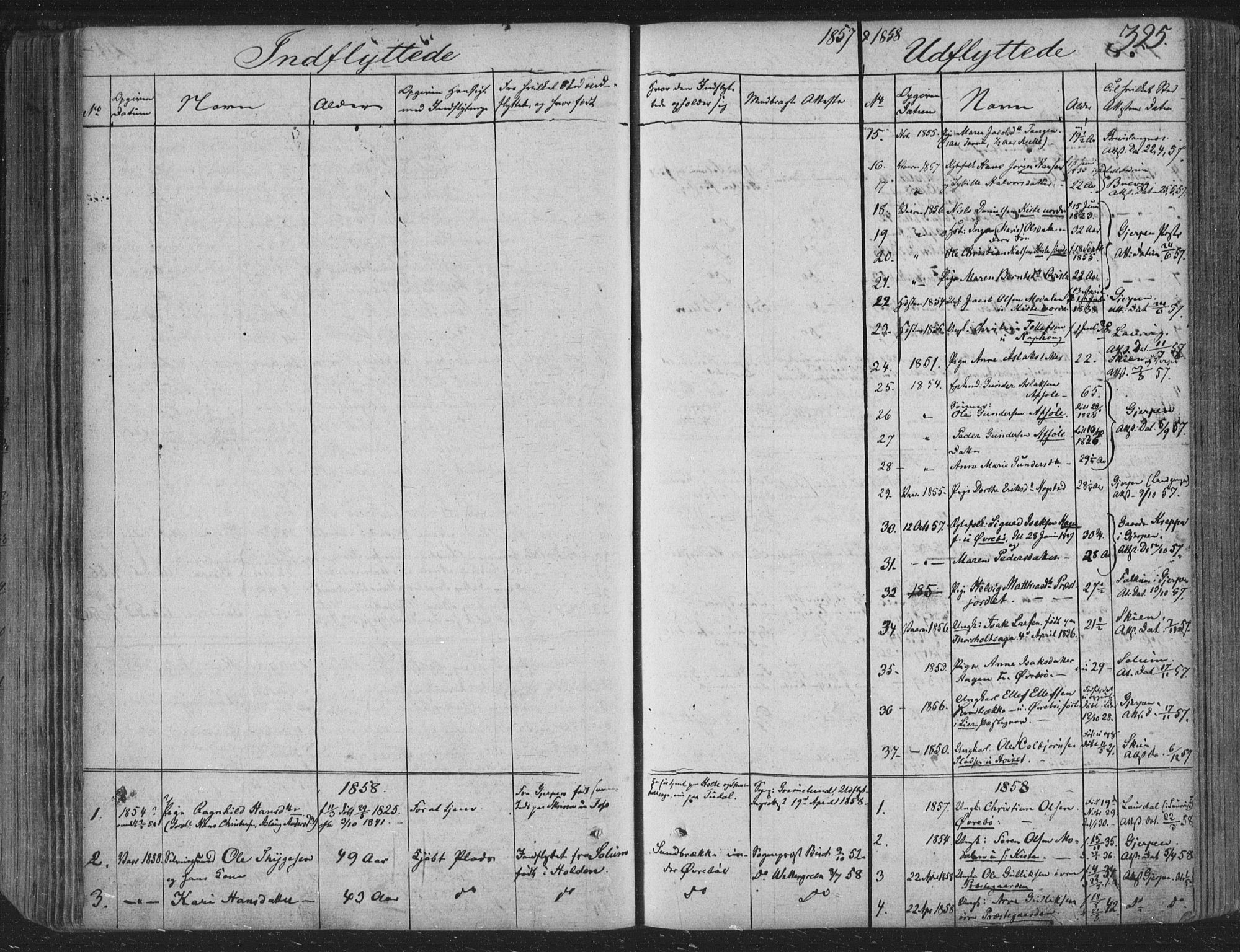 SAKO, Siljan kirkebøker, F/Fa/L0001: Parish register (official) no. 1, 1831-1870, p. 325