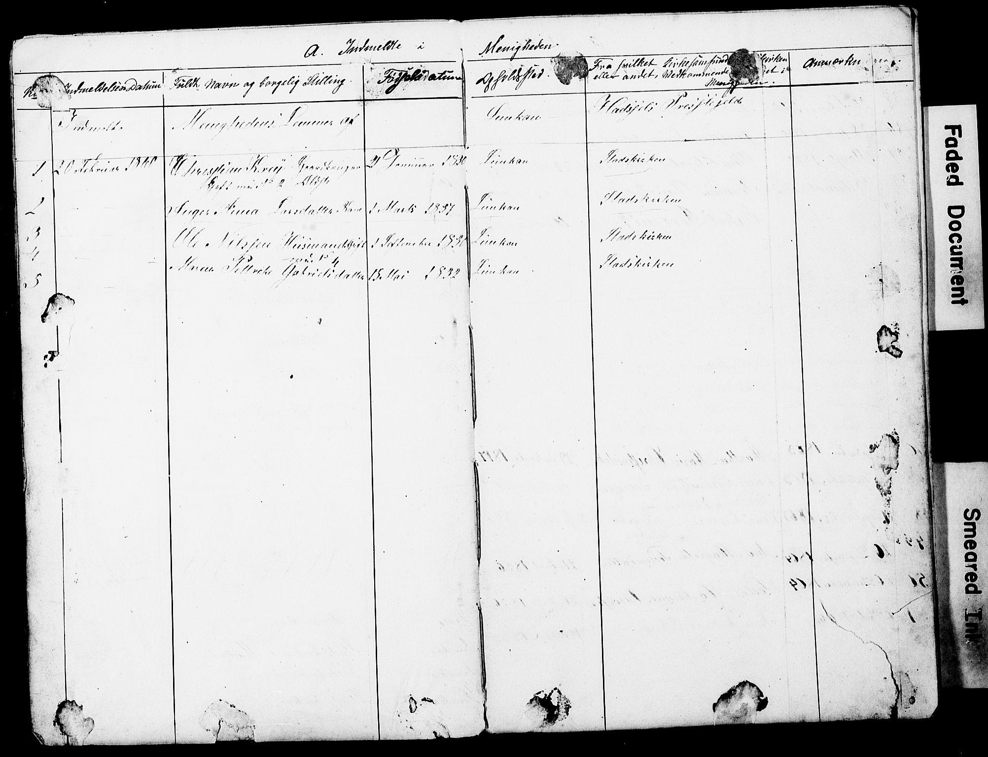 SAT, Ministerialprotokoller, klokkerbøker og fødselsregistre - Nordland, 897/L1418: Dissenter register no. 897D01, 1859-1883