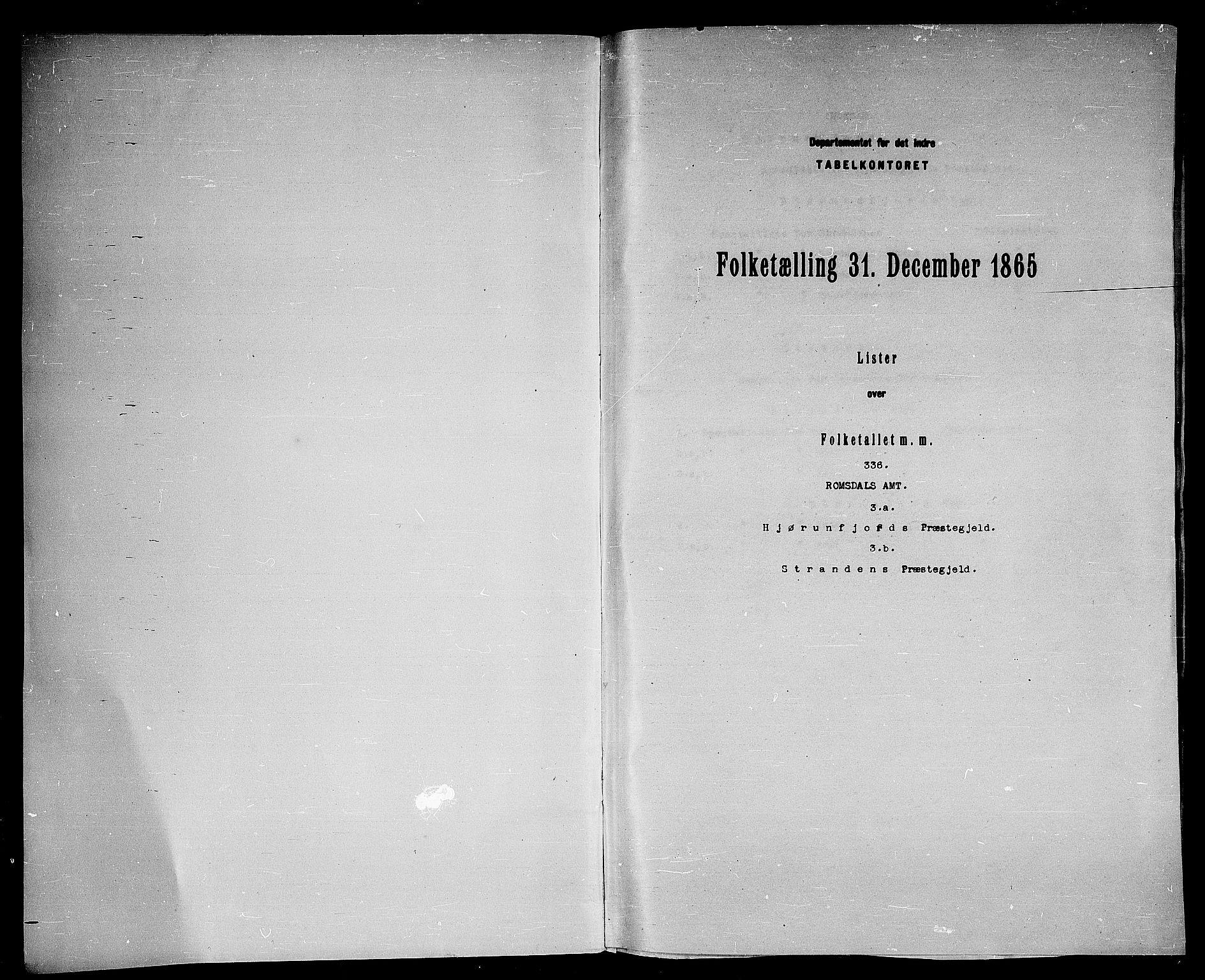 RA, 1865 census for Hjørundfjord, 1865, p. 3